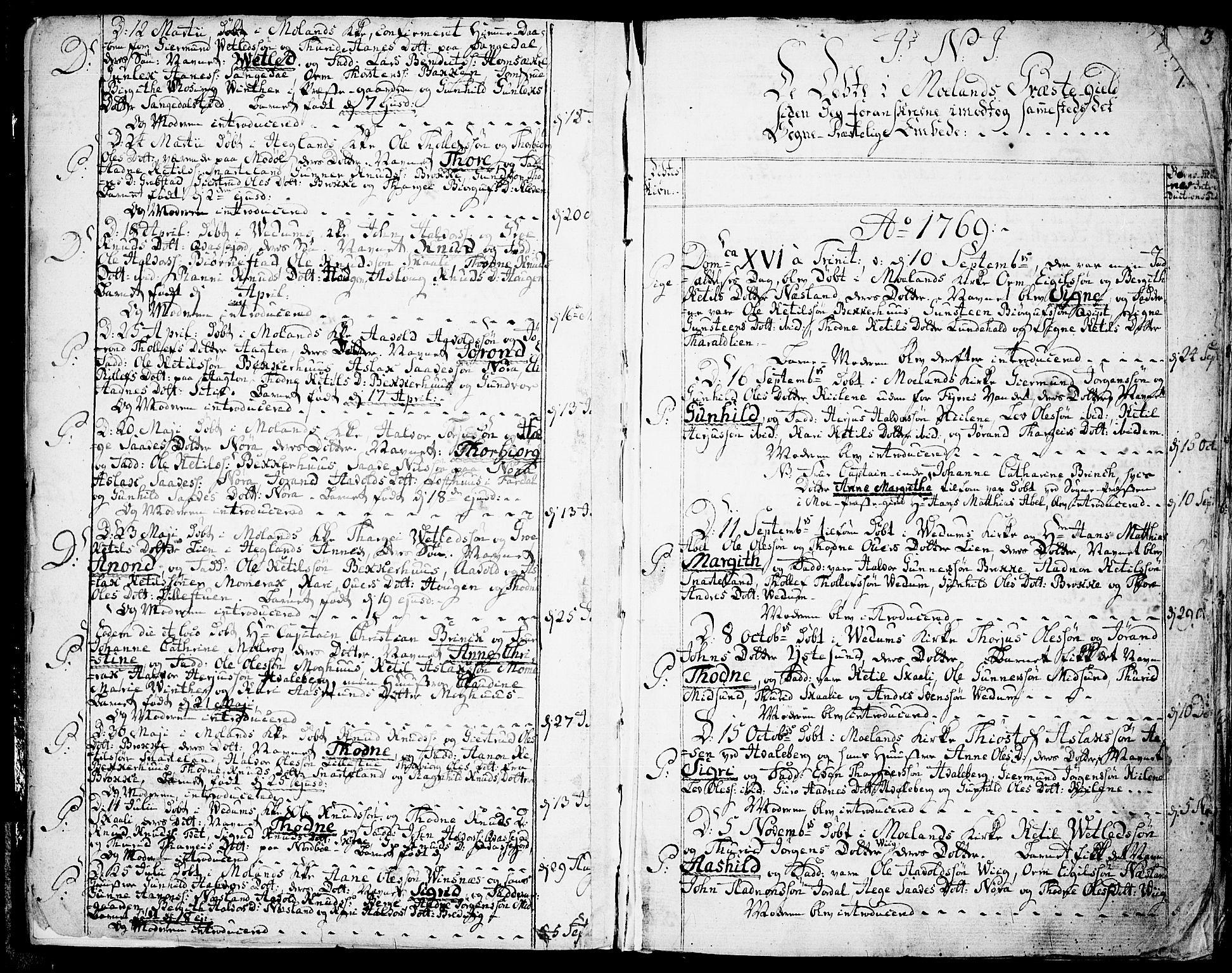 SAKO, Fyresdal kirkebøker, F/Fa/L0002: Ministerialbok nr. I 2, 1769-1814, s. 1
