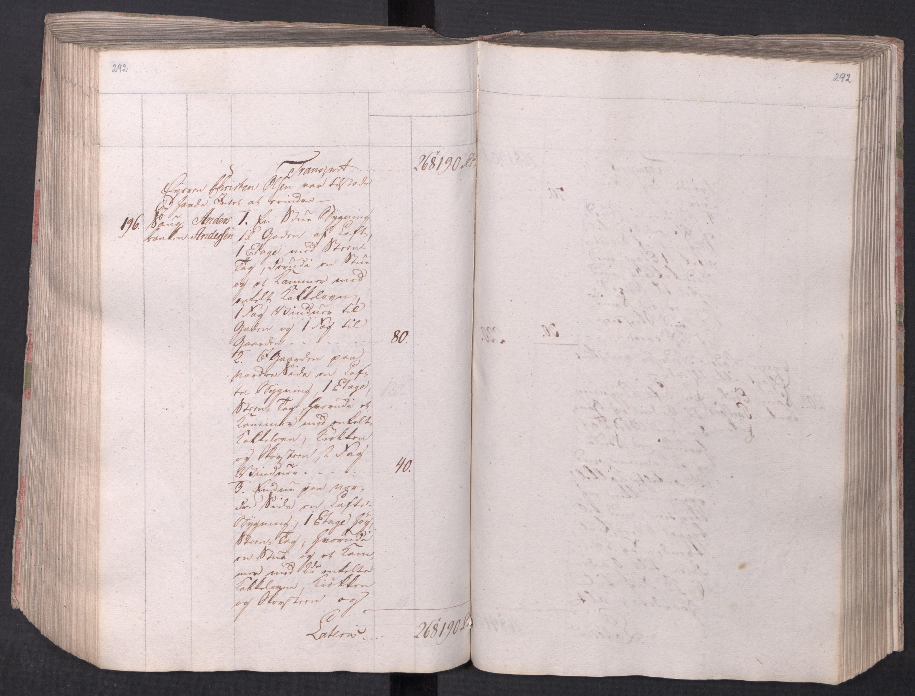 SAO, Kristiania stiftamt, I/Ia/L0015: Branntakster, 1797, s. 292
