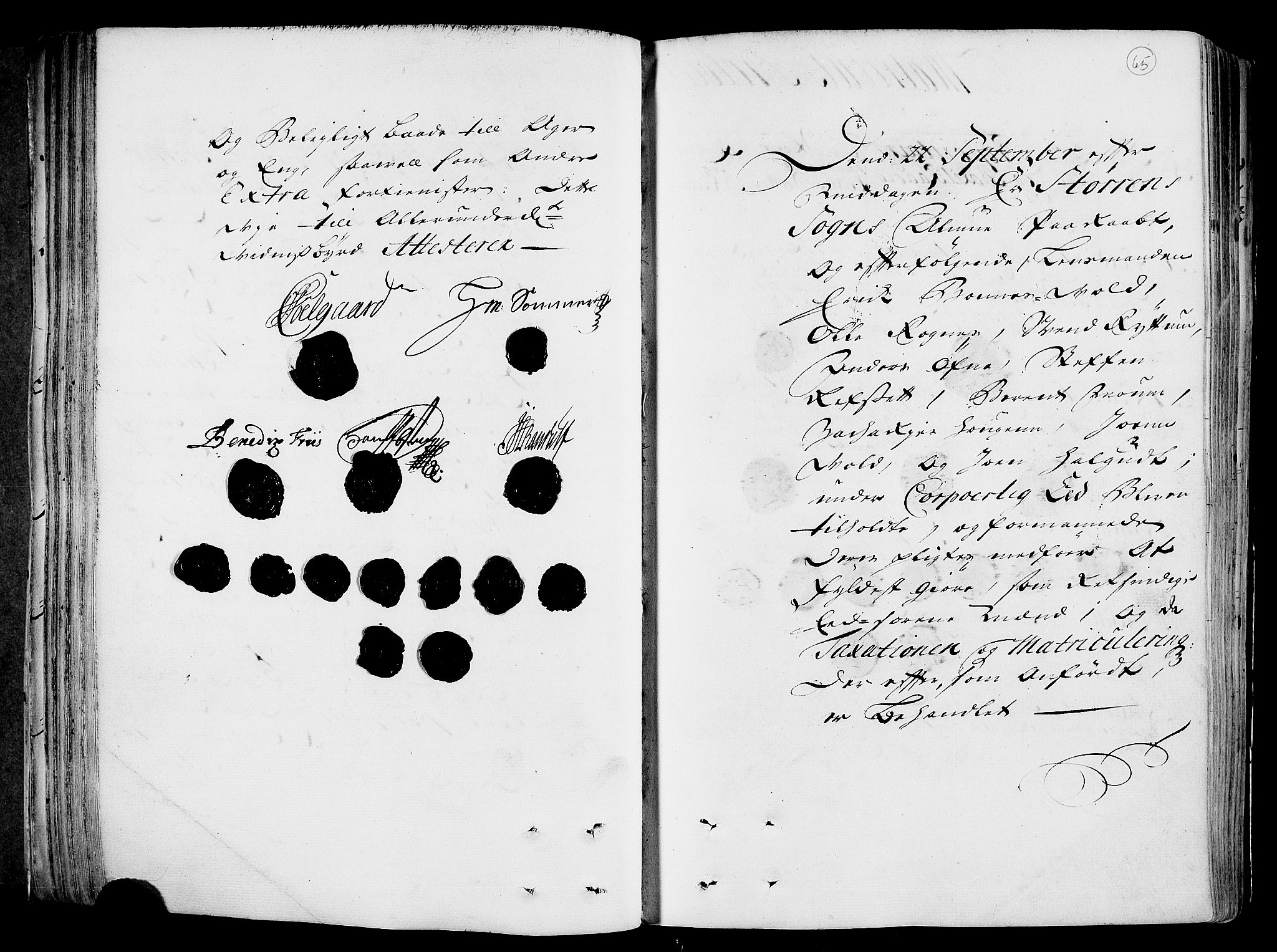RA, Rentekammeret inntil 1814, Realistisk ordnet avdeling, N/Nb/Nbf/L0158: Gauldal eksaminasjonsprotokoll, 1723, s. 64b-65a