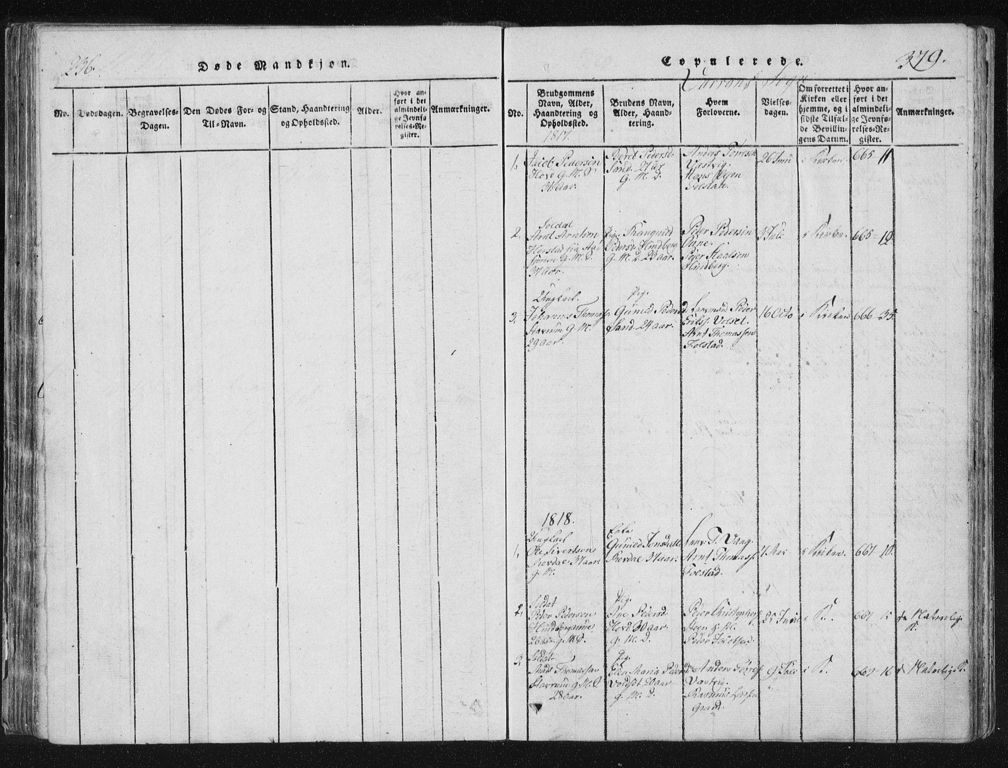 SAT, Ministerialprotokoller, klokkerbøker og fødselsregistre - Nord-Trøndelag, 744/L0417: Ministerialbok nr. 744A01, 1817-1842, s. 378-379