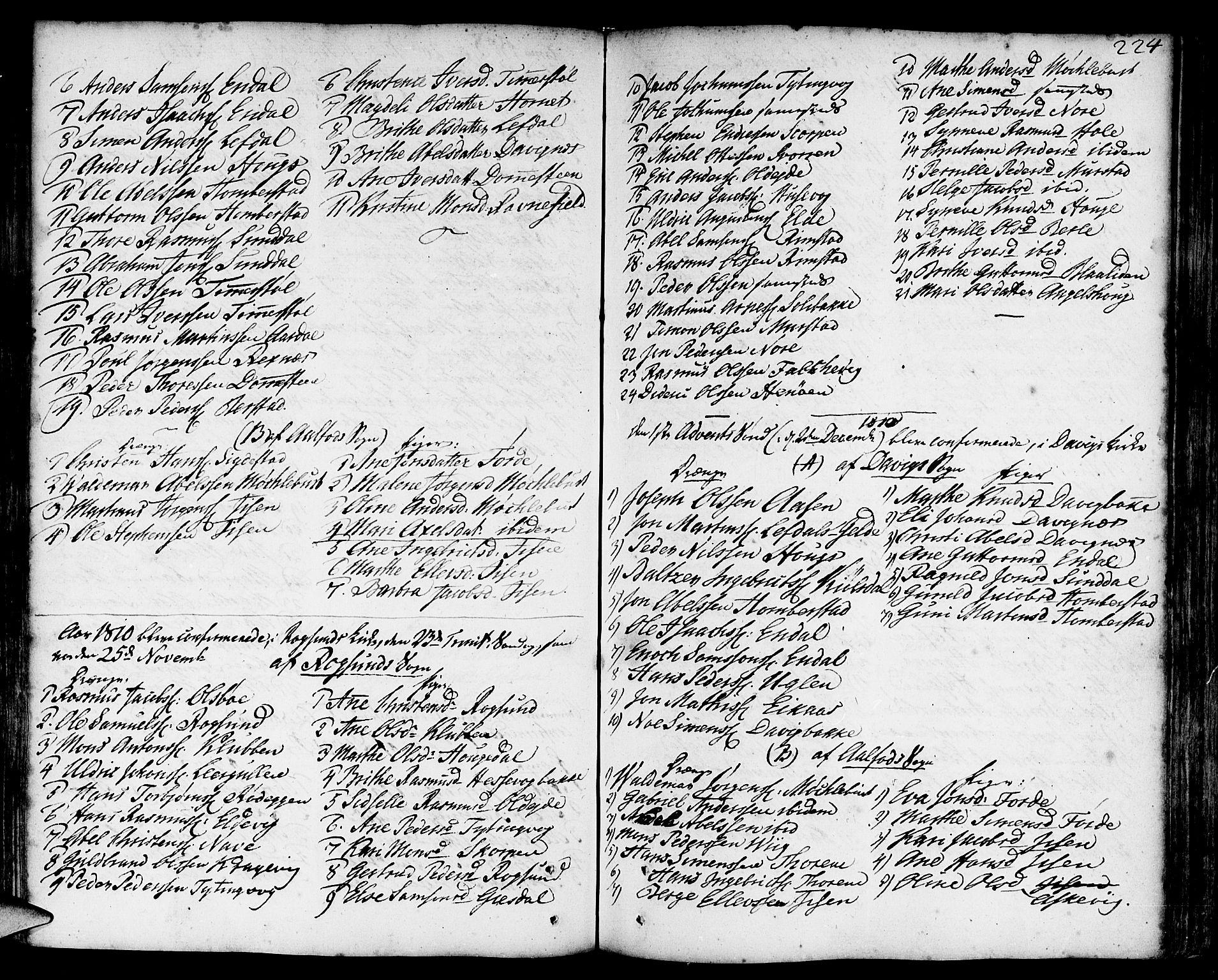 SAB, Davik Sokneprestembete, Ministerialbok nr. A 2, 1742-1816, s. 224