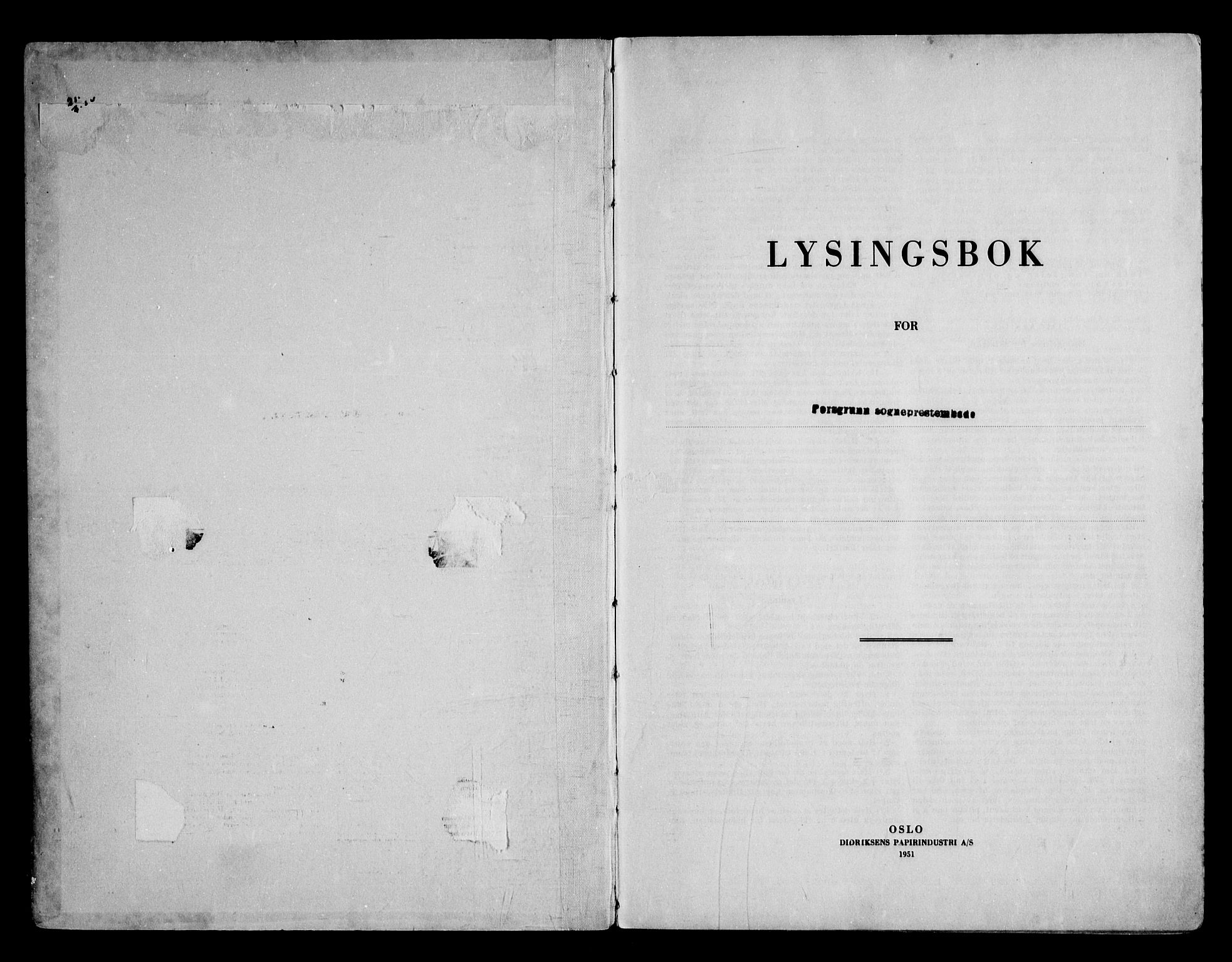SAKO, Porsgrunn kirkebøker , H/Ha/L0003: Lysningsprotokoll nr. 3, 1952-1964