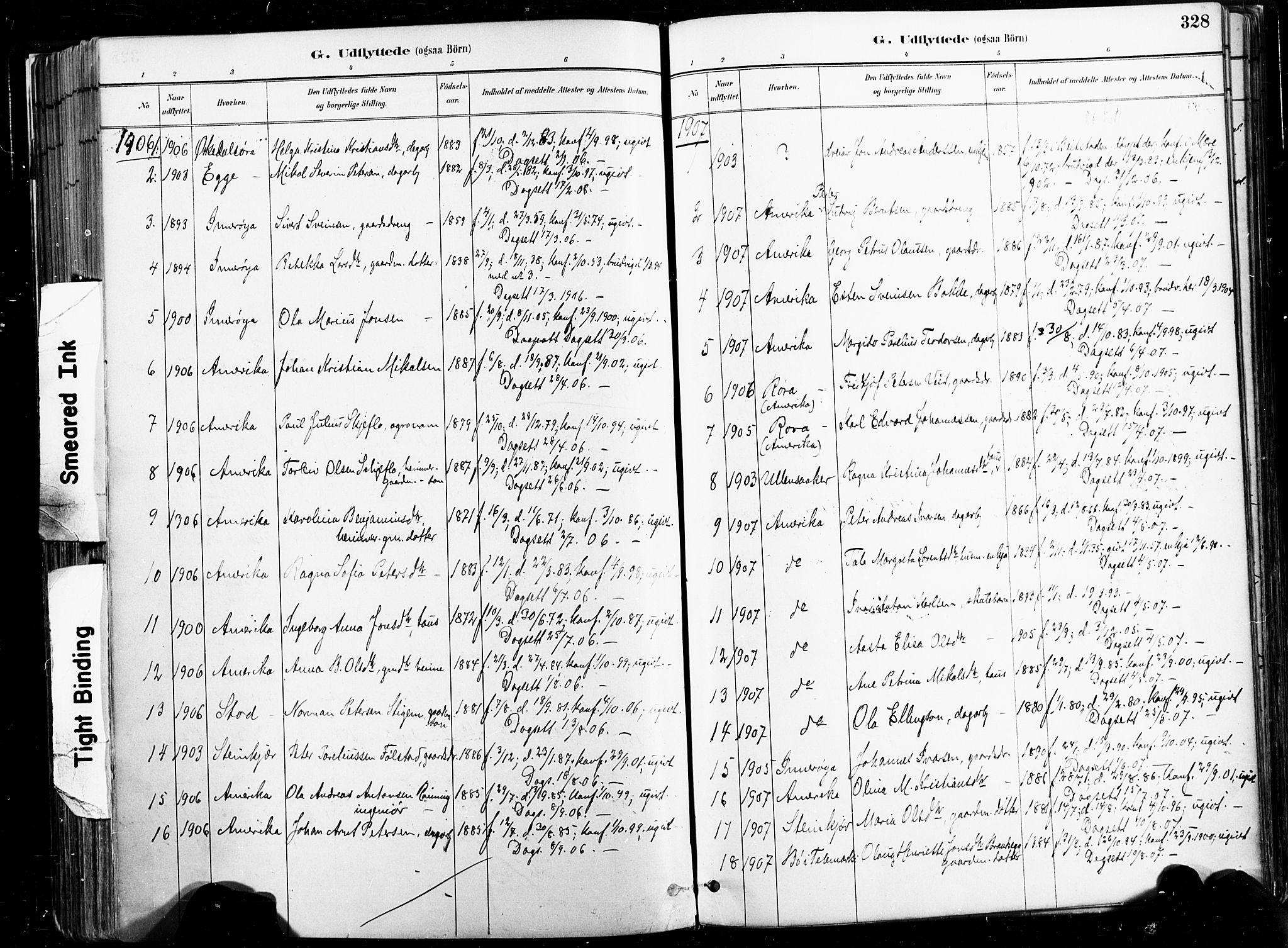 SAT, Ministerialprotokoller, klokkerbøker og fødselsregistre - Nord-Trøndelag, 735/L0351: Ministerialbok nr. 735A10, 1884-1908, s. 328