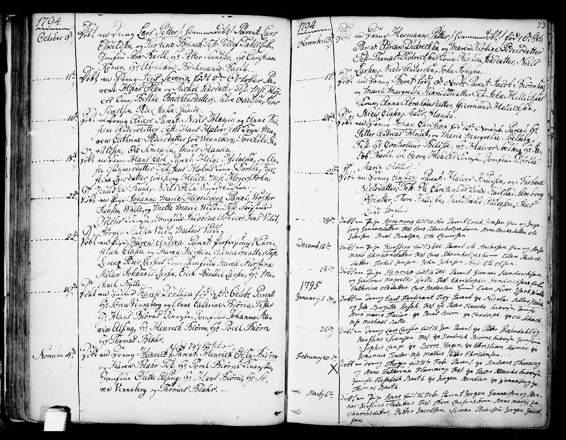 SAKO, Kragerø kirkebøker, F/Fa/L0002: Ministerialbok nr. 2, 1767-1802, s. 73