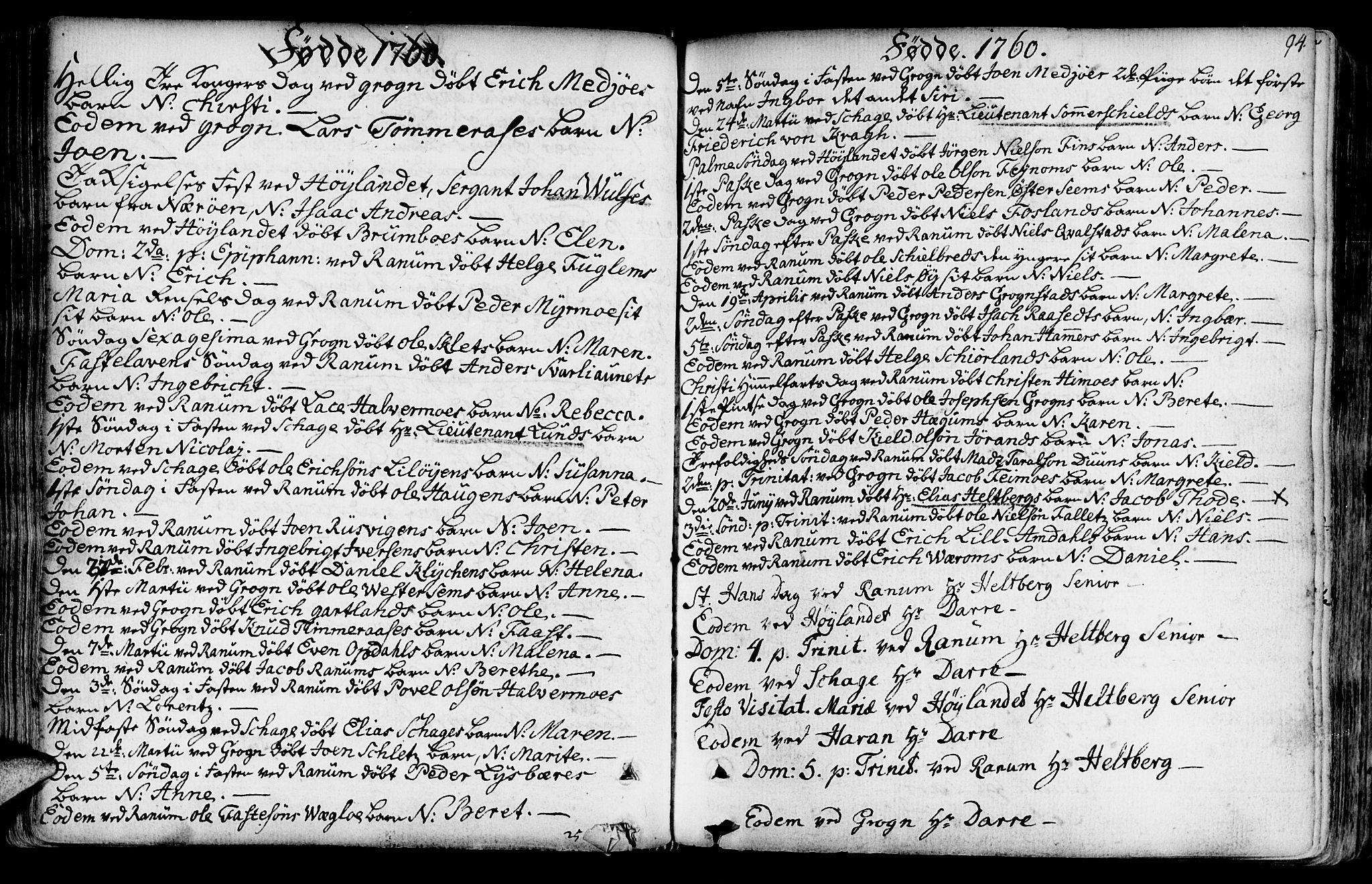 SAT, Ministerialprotokoller, klokkerbøker og fødselsregistre - Nord-Trøndelag, 764/L0542: Ministerialbok nr. 764A02, 1748-1779, s. 94