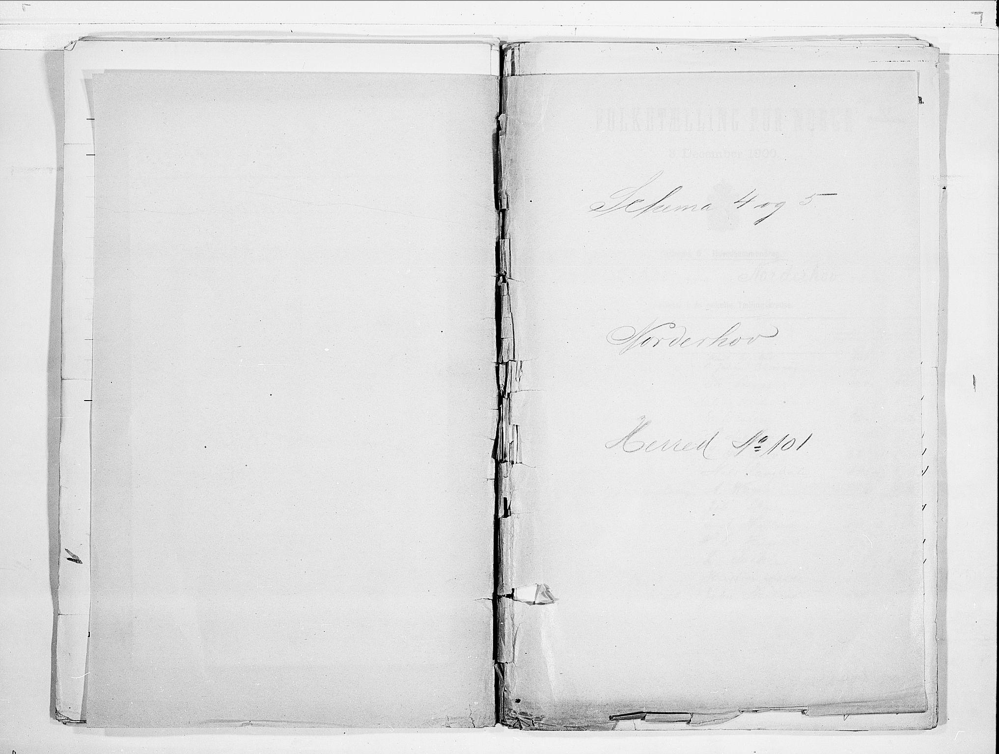 RA, Folketelling 1900 for 0613 Norderhov herred, 1900, s. 1