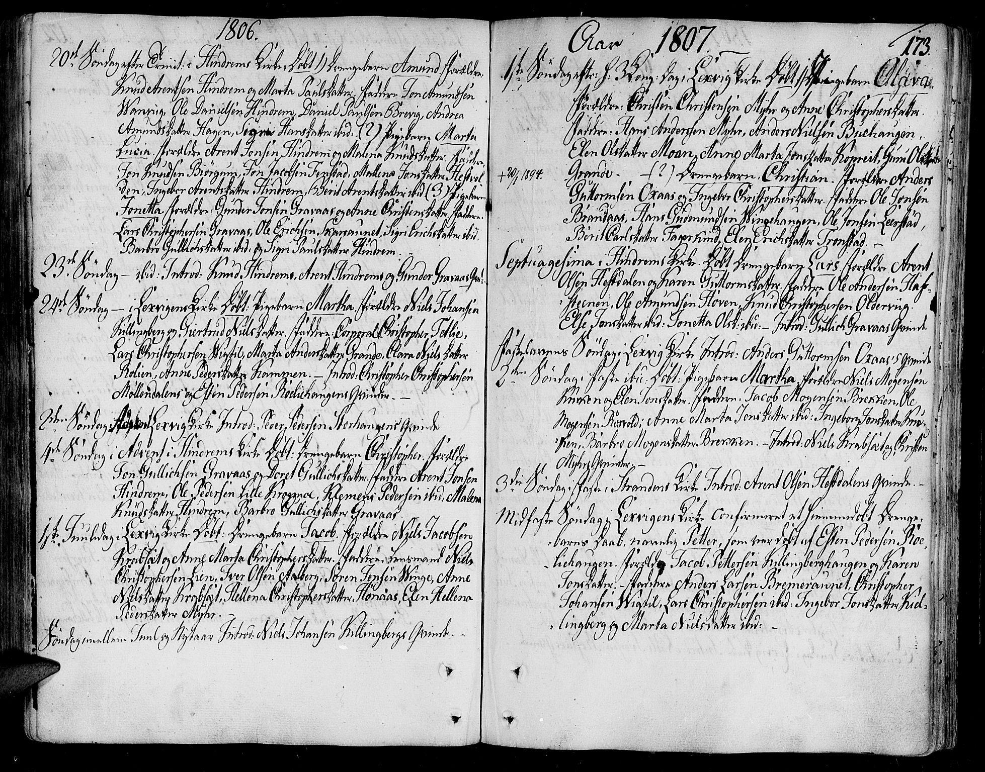 SAT, Ministerialprotokoller, klokkerbøker og fødselsregistre - Nord-Trøndelag, 701/L0004: Ministerialbok nr. 701A04, 1783-1816, s. 173