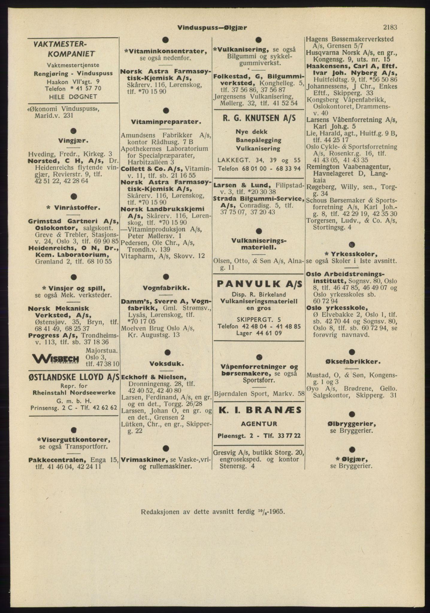 PUBL, Kristiania/Oslo adressebok, 1965-1966, s. 2183