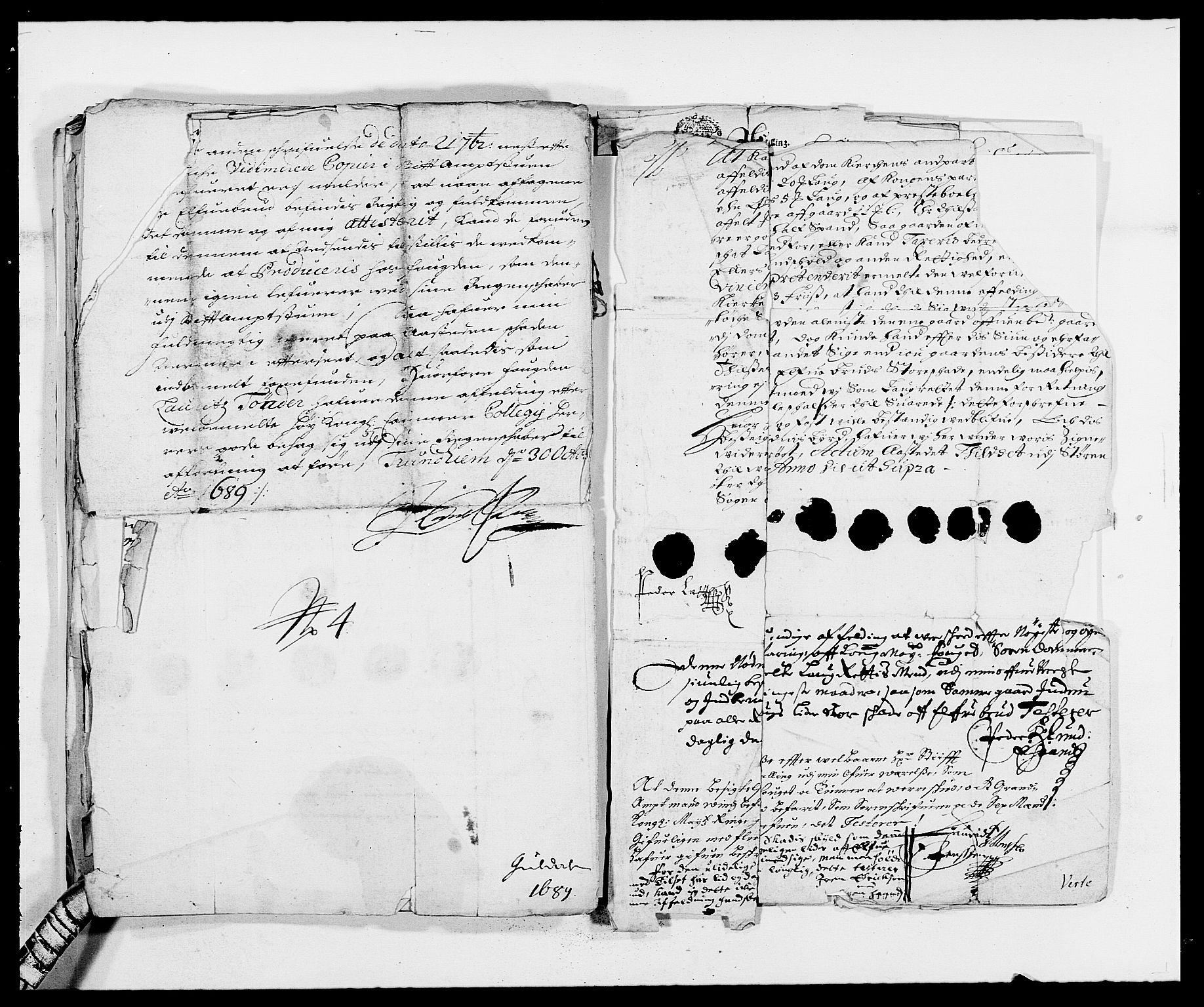 RA, Rentekammeret inntil 1814, Reviderte regnskaper, Fogderegnskap, R59/L3940: Fogderegnskap Gauldal, 1689-1690, s. 175