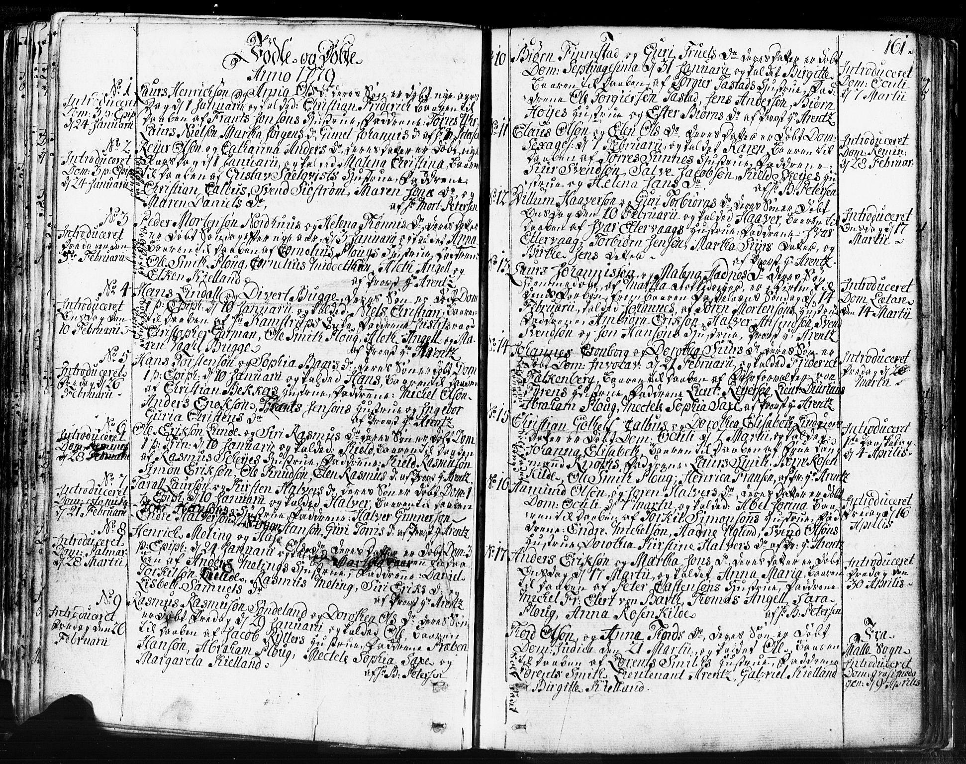 SAST, Domkirken sokneprestkontor, 30/30BB/L0004: Klokkerbok nr. B 4, 1752-1790, s. 161