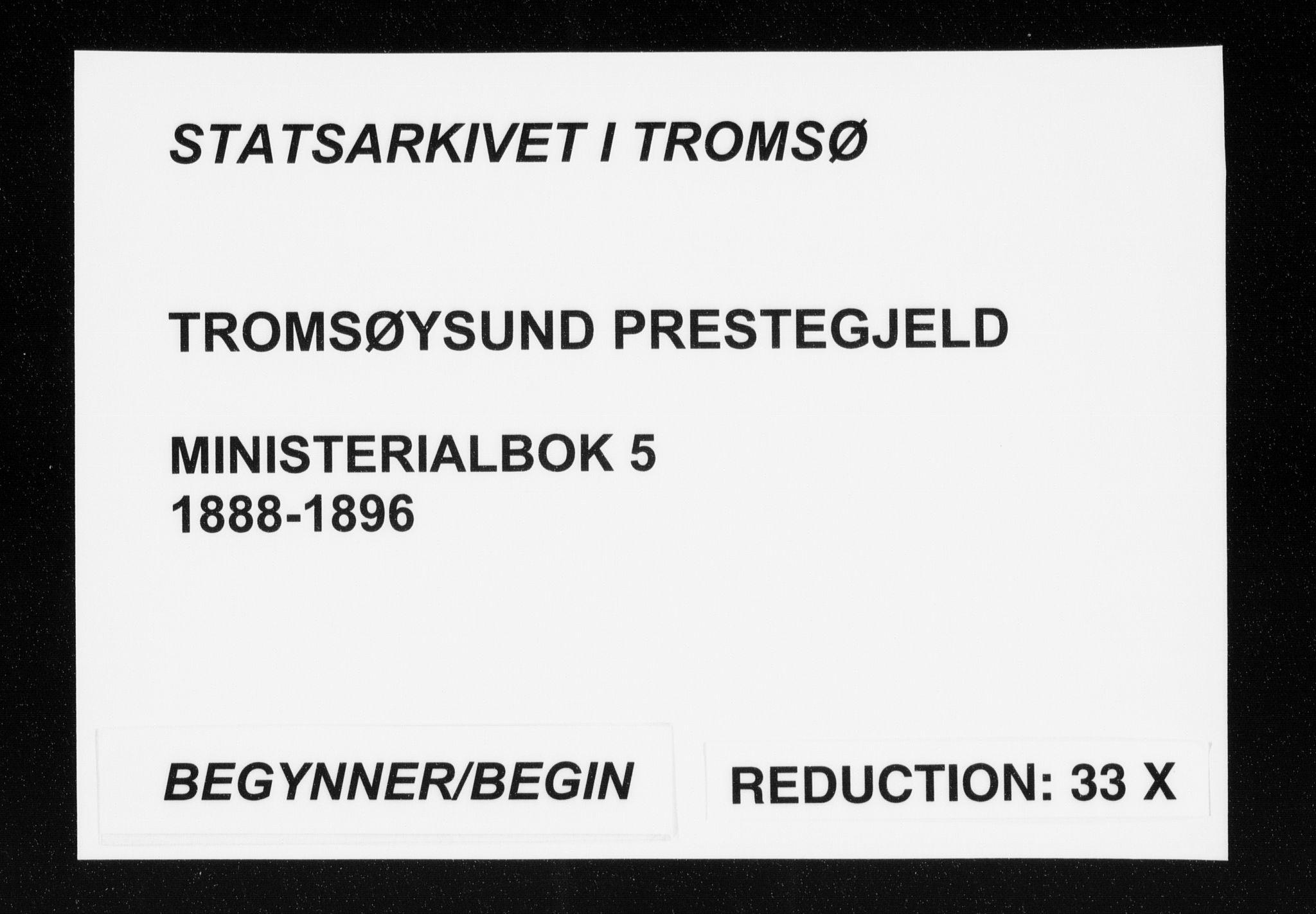 SATØ, Tromsøysund sokneprestkontor, G/Ga/L0005kirke: Ministerialbok nr. 5, 1888-1896