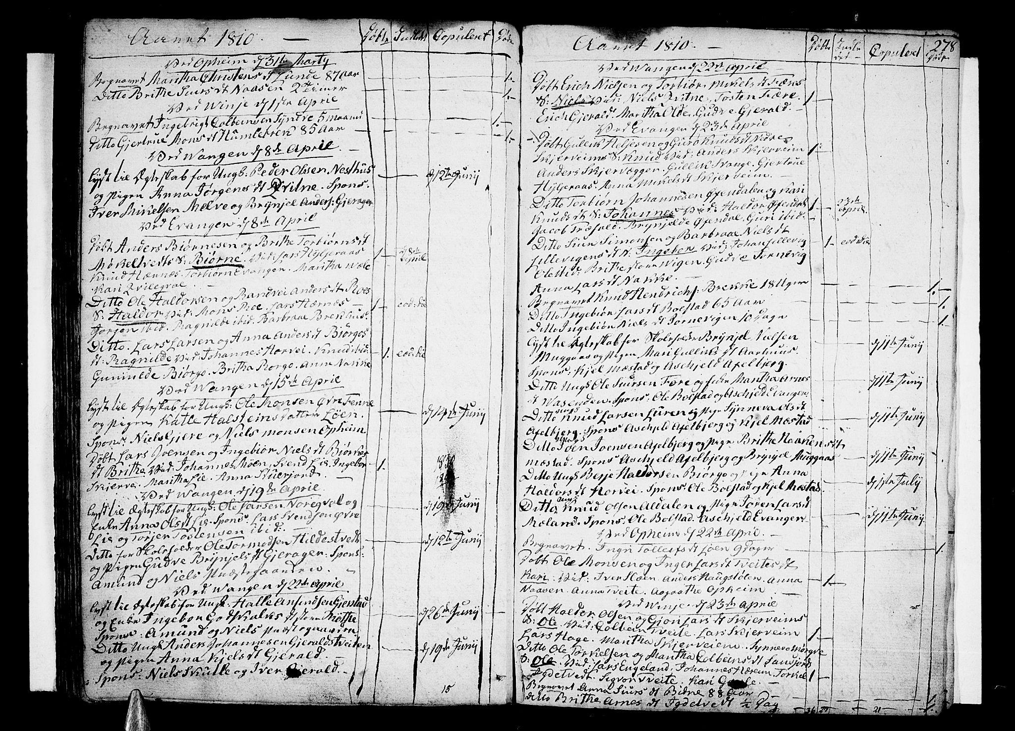 SAB, Voss Sokneprestembete, H/Haa: Ministerialbok nr. A 9, 1780-1810, s. 278