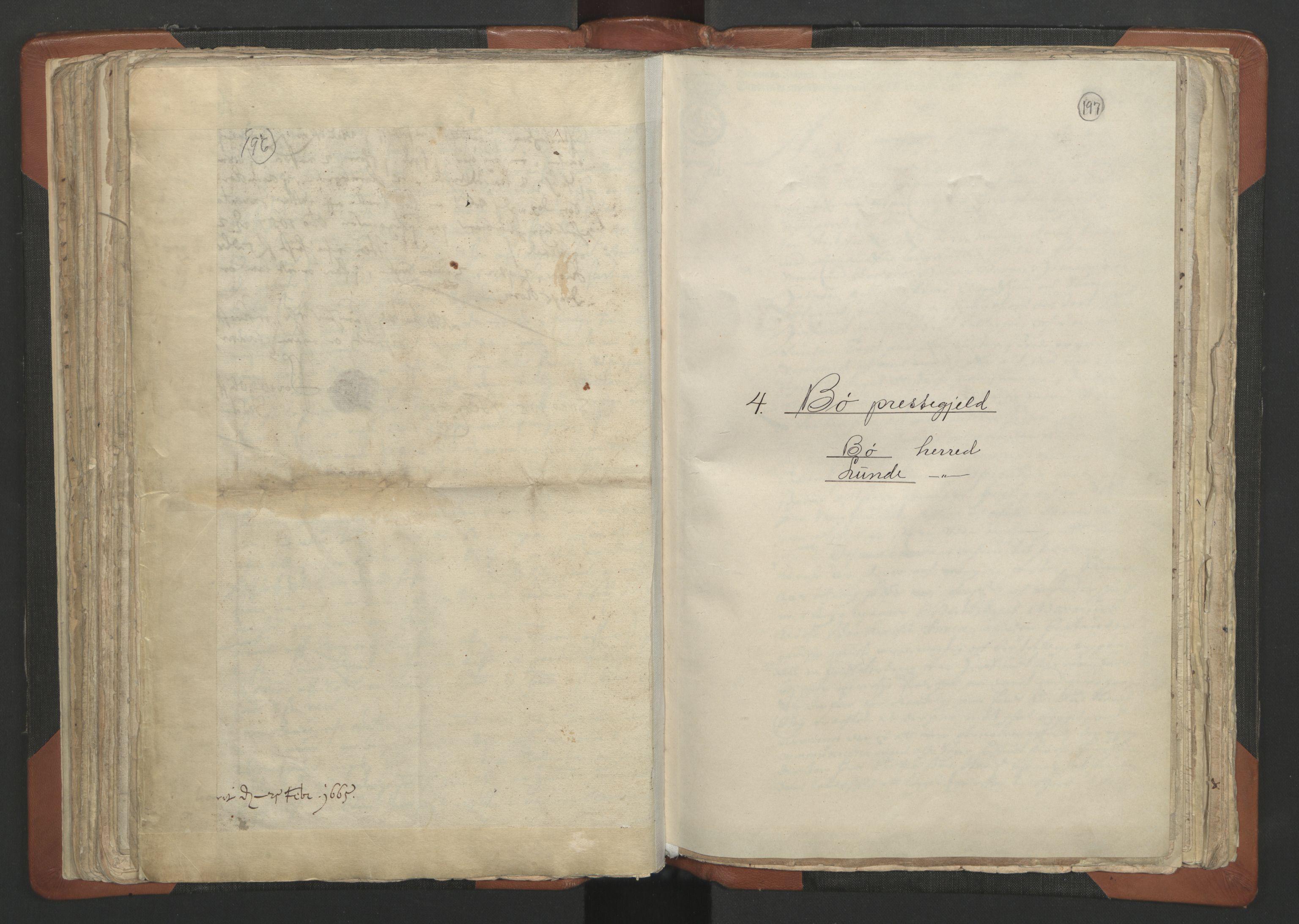RA, Sogneprestenes manntall 1664-1666, nr. 12: Øvre Telemark prosti, Nedre Telemark prosti og Bamble prosti, 1664-1666, s. 196-197