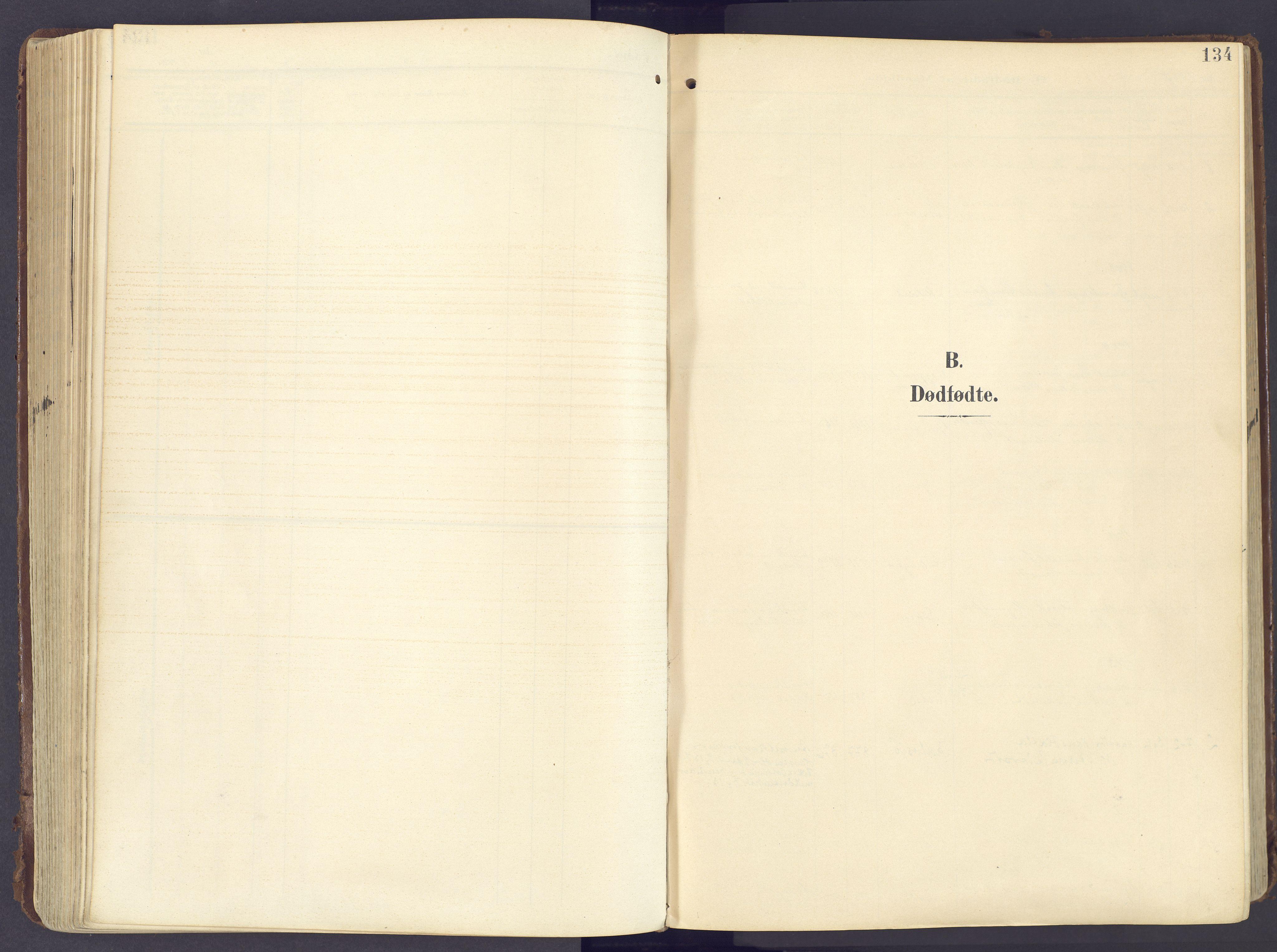 SAH, Lunner prestekontor, H/Ha/Haa/L0001: Ministerialbok nr. 1, 1907-1922, s. 134