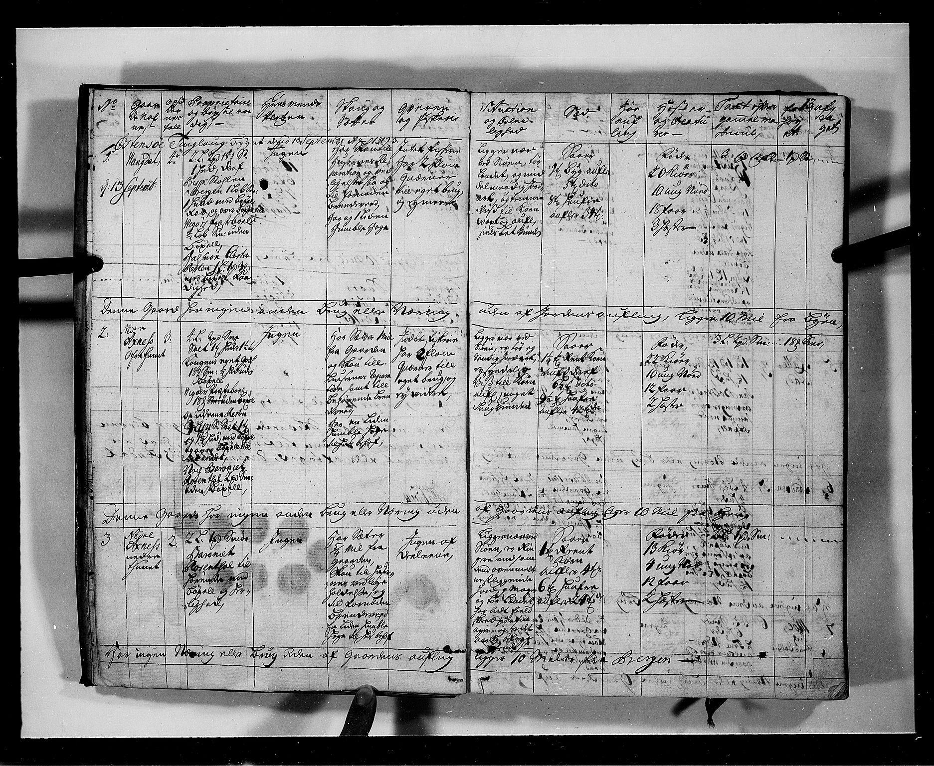 RA, Rentekammeret inntil 1814, Realistisk ordnet avdeling, N/Nb/Nbf/L0136: Hardanger eksaminasjonsprotokoll, 1723, s. 12b-13a