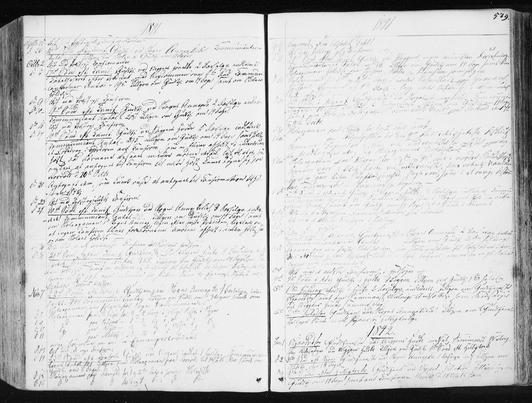 SAT, Ministerialprotokoller, klokkerbøker og fødselsregistre - Sør-Trøndelag, 665/L0771: Ministerialbok nr. 665A06, 1830-1856, s. 579