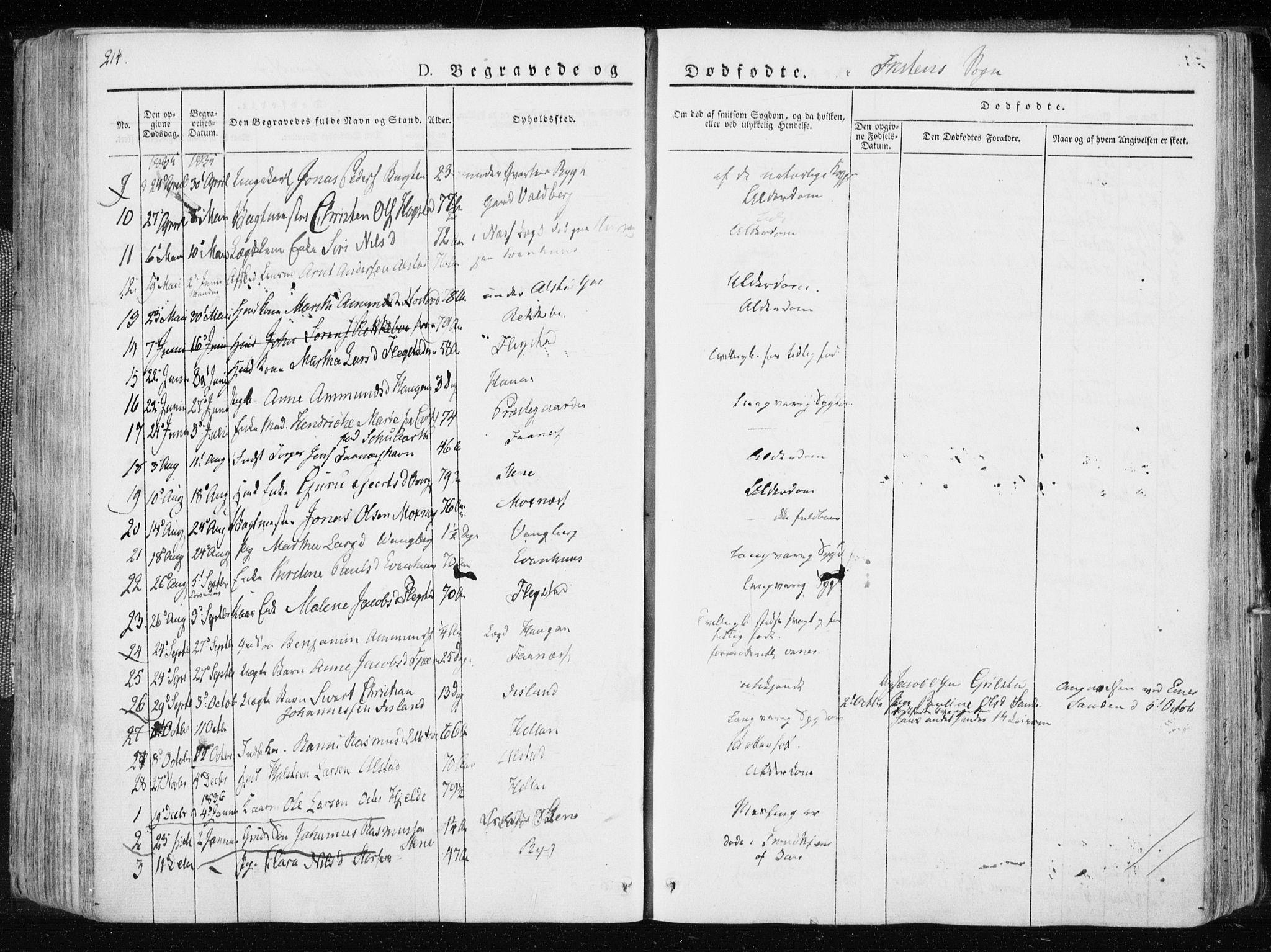 SAT, Ministerialprotokoller, klokkerbøker og fødselsregistre - Nord-Trøndelag, 713/L0114: Ministerialbok nr. 713A05, 1827-1839, s. 214