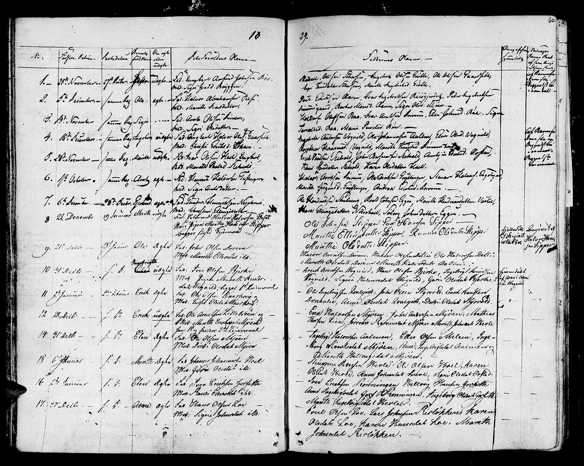 SAT, Ministerialprotokoller, klokkerbøker og fødselsregistre - Sør-Trøndelag, 678/L0897: Ministerialbok nr. 678A06-07, 1821-1847, s. 60