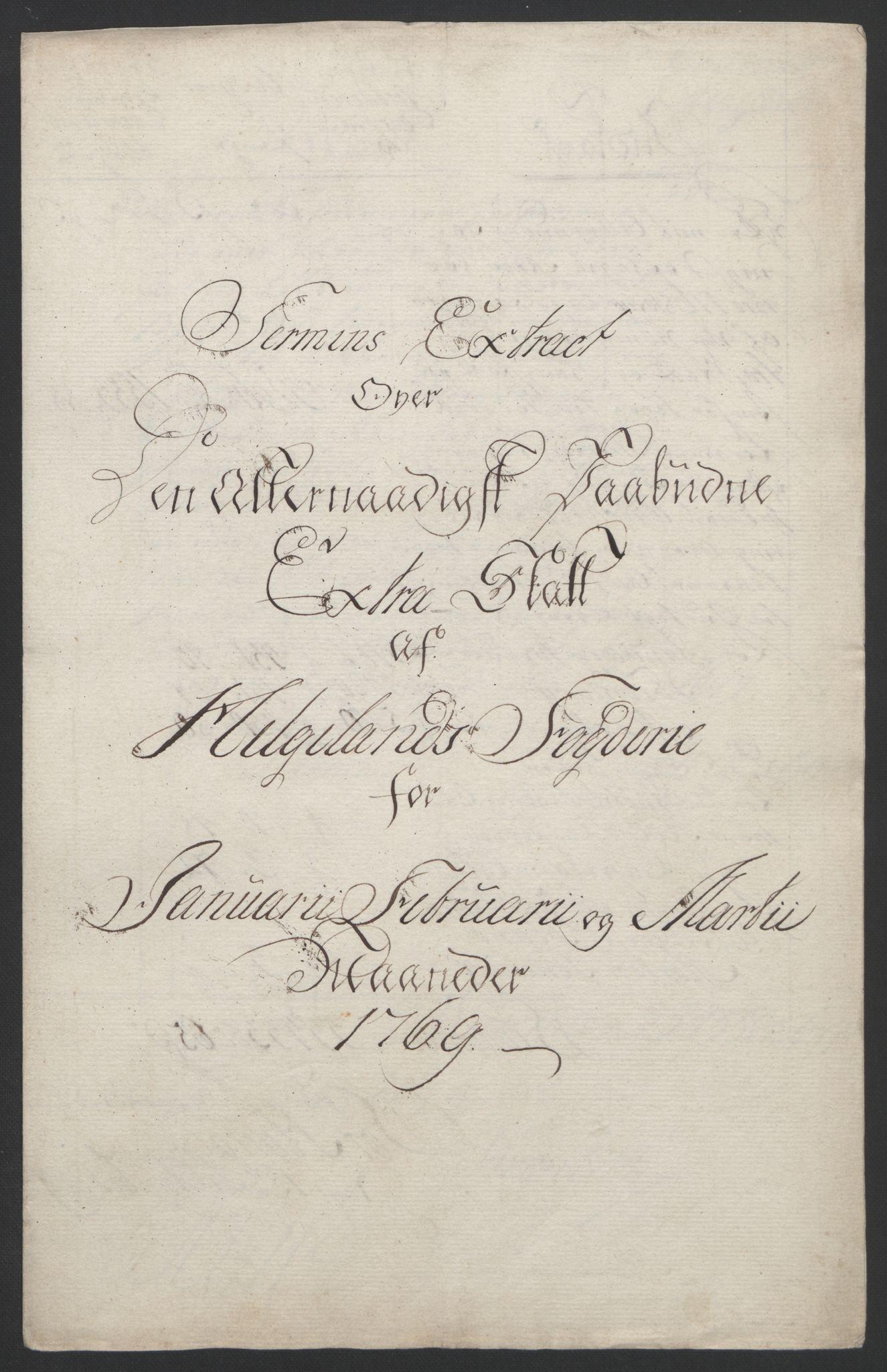 RA, Rentekammeret inntil 1814, Reviderte regnskaper, Fogderegnskap, R65/L4573: Ekstraskatten Helgeland, 1762-1772, s. 227