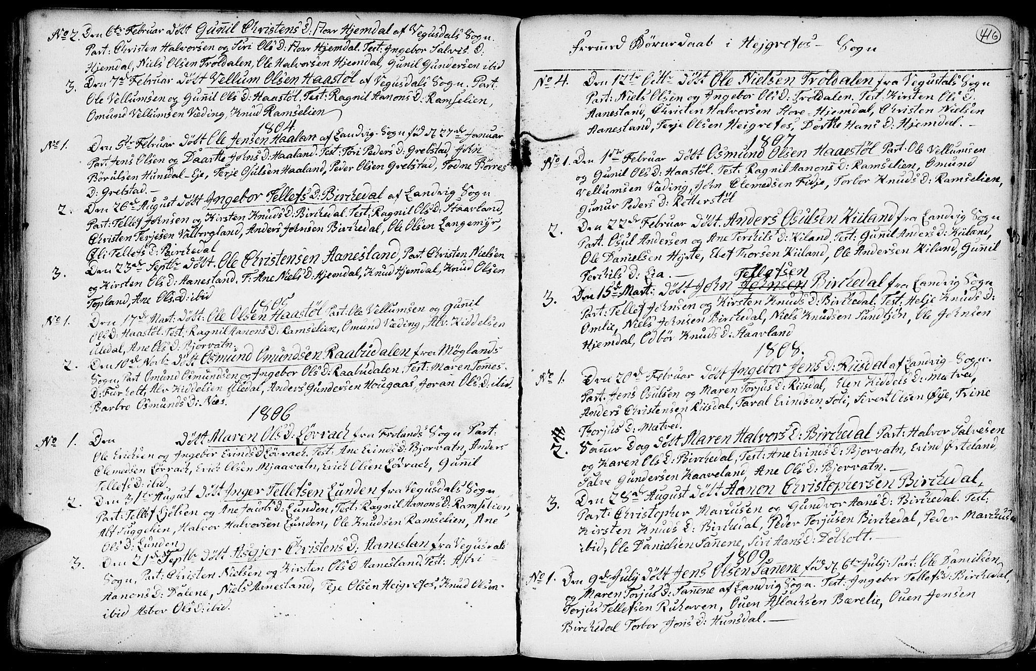 SAK, Hommedal sokneprestkontor, F/Fa/Fab/L0002: Ministerialbok nr. A 2 /3, 1740-1821, s. 416