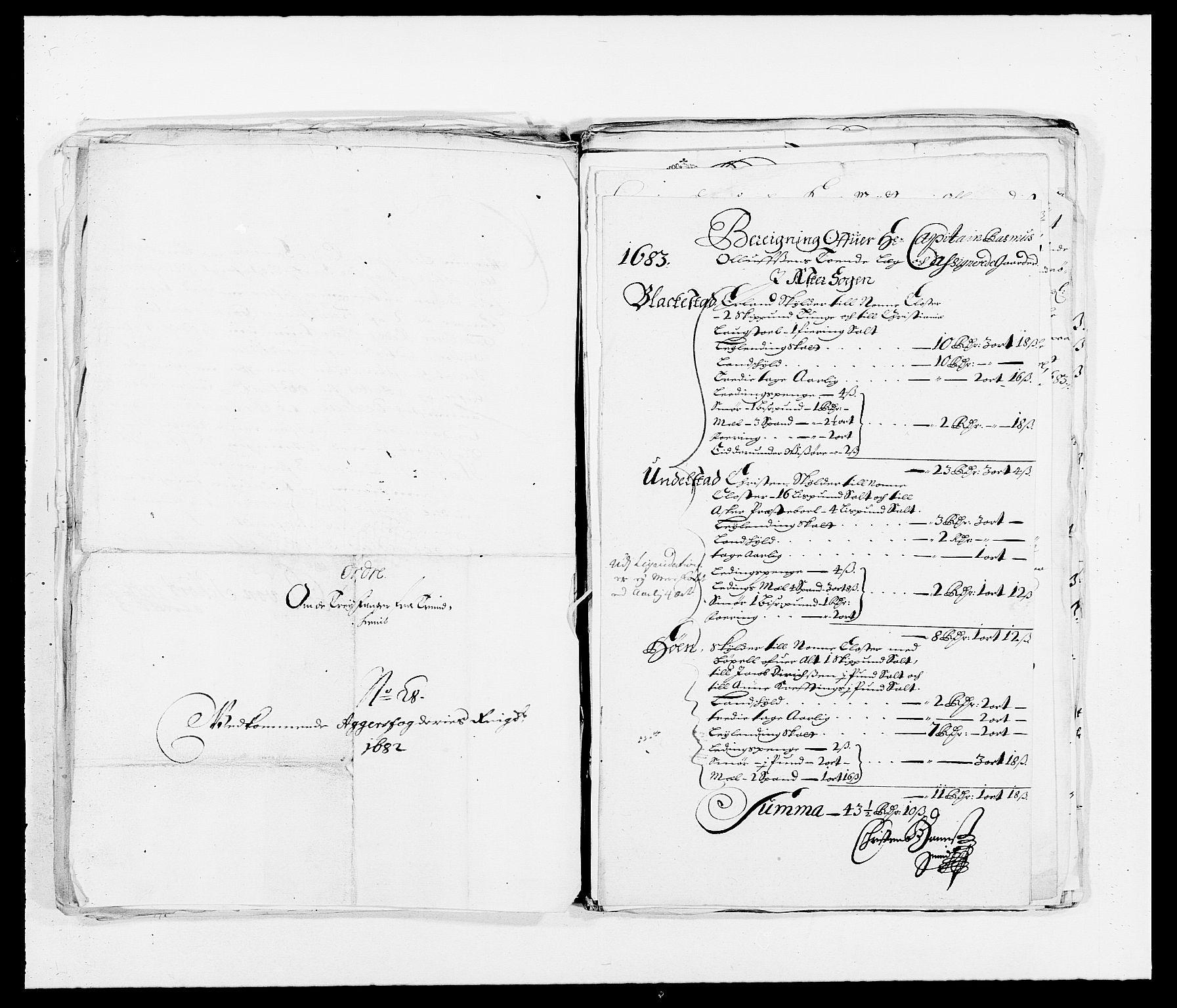 RA, Rentekammeret inntil 1814, Reviderte regnskaper, Fogderegnskap, R08/L0424: Fogderegnskap Aker, 1682-1689, s. 45