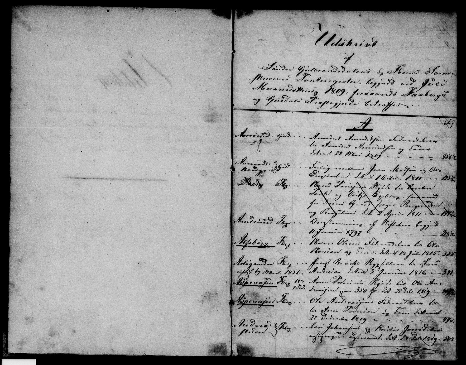 SAH, Sør-Gudbrandsdal sorenskriveri, H/Ha/Hak/L0003: Panteregister nr. 3, 1801-1838