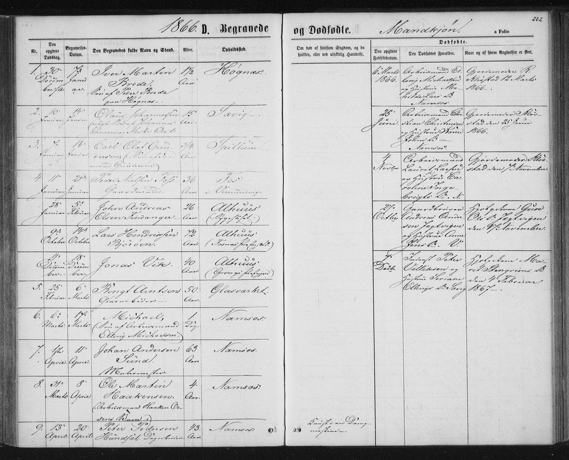 SAT, Ministerialprotokoller, klokkerbøker og fødselsregistre - Nord-Trøndelag, 768/L0570: Ministerialbok nr. 768A05, 1865-1874, s. 222
