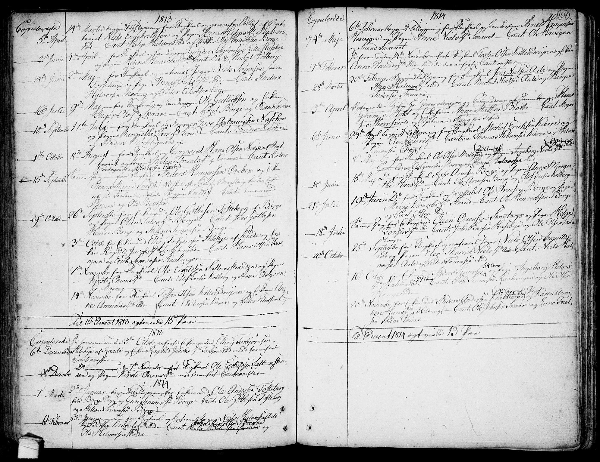 SAO, Onsøy prestekontor Kirkebøker, F/Fa/L0001: Ministerialbok nr. I 1, 1733-1814, s. 164