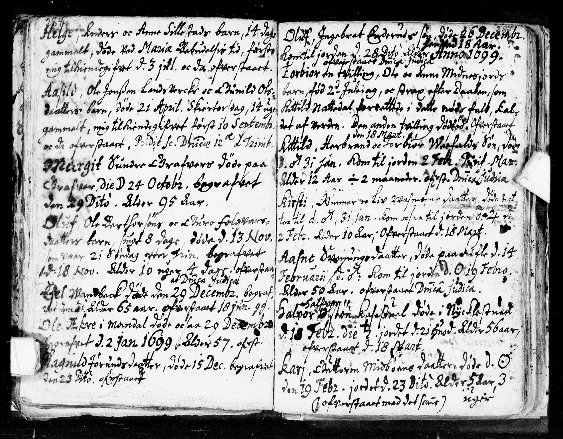 SAKO, Seljord kirkebøker, F/Fa/L0002: Ministerialbok nr. I 2, 1689-1713, s. 284-285