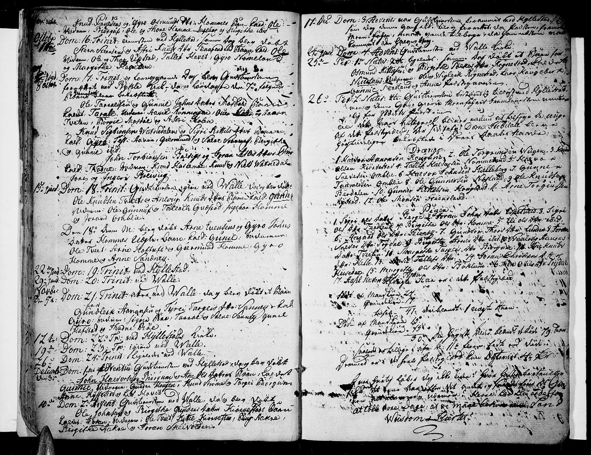 SAK, Valle sokneprestkontor, F/Fa/Fac/L0004: Ministerialbok nr. A 4, 1790-1816, s. 18