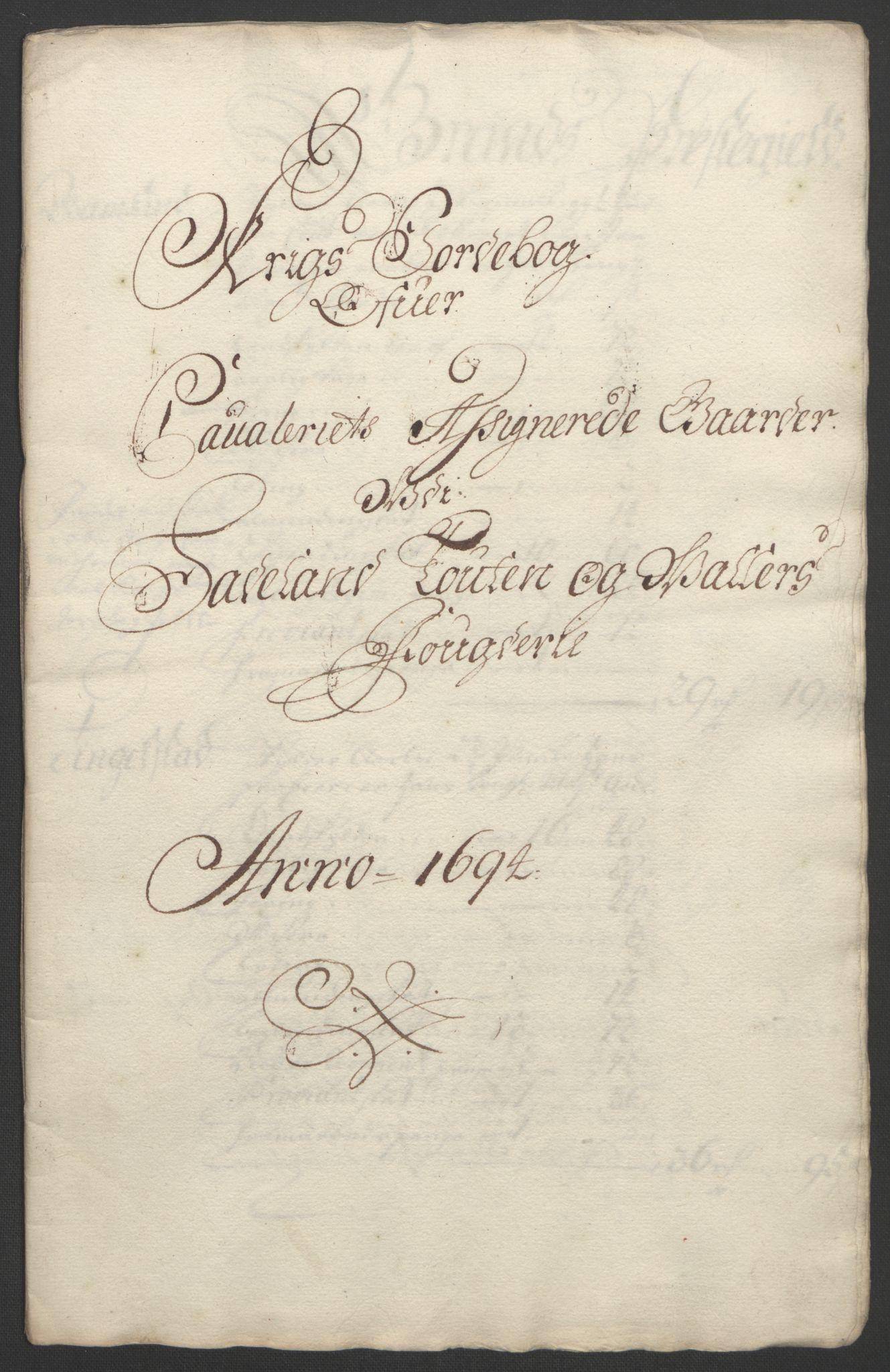RA, Rentekammeret inntil 1814, Reviderte regnskaper, Fogderegnskap, R18/L1292: Fogderegnskap Hadeland, Toten og Valdres, 1693-1694, s. 400