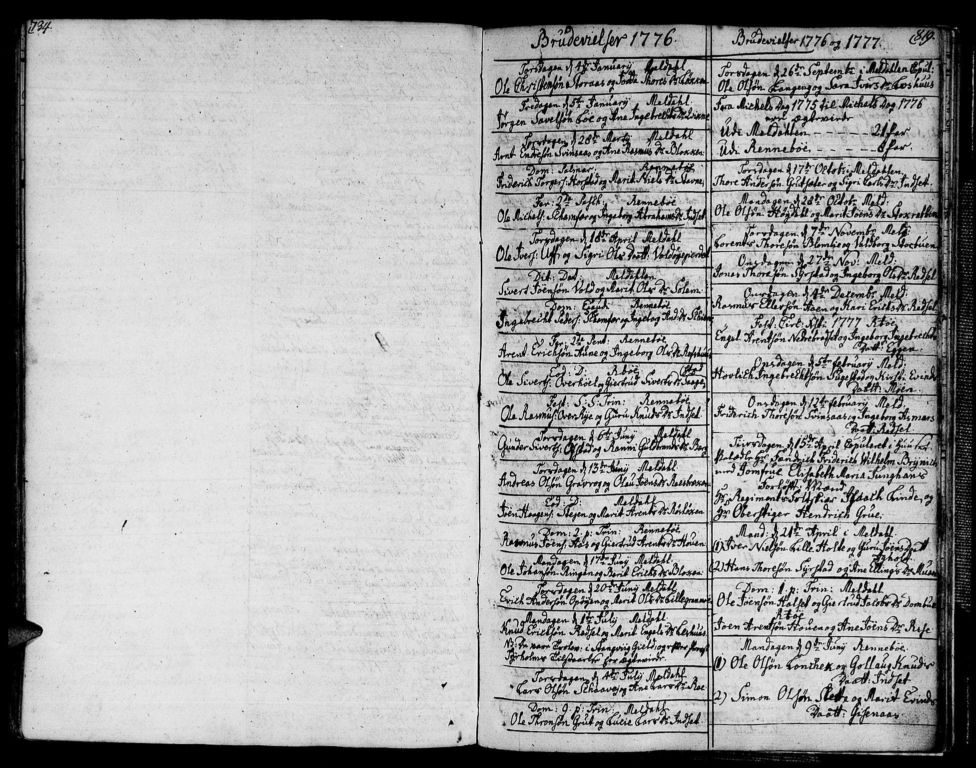 SAT, Ministerialprotokoller, klokkerbøker og fødselsregistre - Sør-Trøndelag, 672/L0852: Ministerialbok nr. 672A05, 1776-1815, s. 734-819