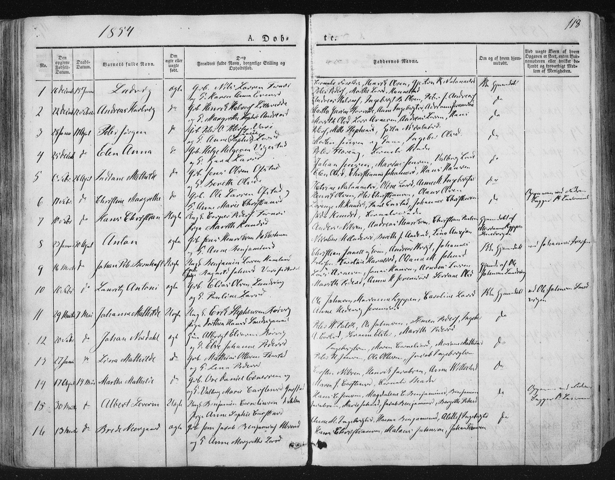 SAT, Ministerialprotokoller, klokkerbøker og fødselsregistre - Nord-Trøndelag, 784/L0669: Ministerialbok nr. 784A04, 1829-1859, s. 118