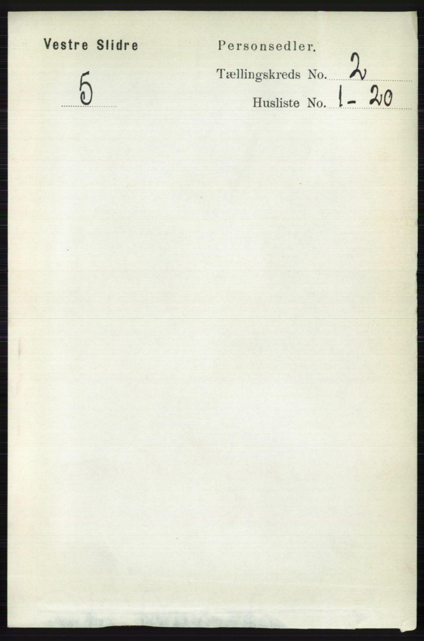 RA, Folketelling 1891 for 0543 Vestre Slidre herred, 1891, s. 503