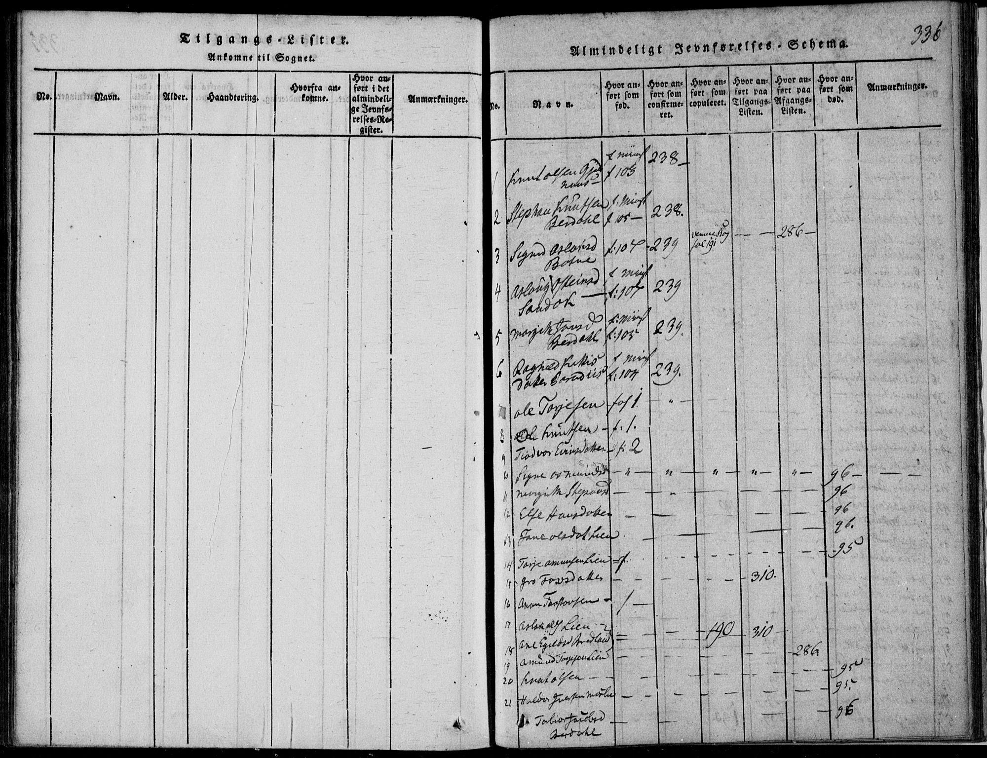 SAKO, Vinje kirkebøker, F/Fb/L0001: Ministerialbok nr. II 1, 1814-1843, s. 336