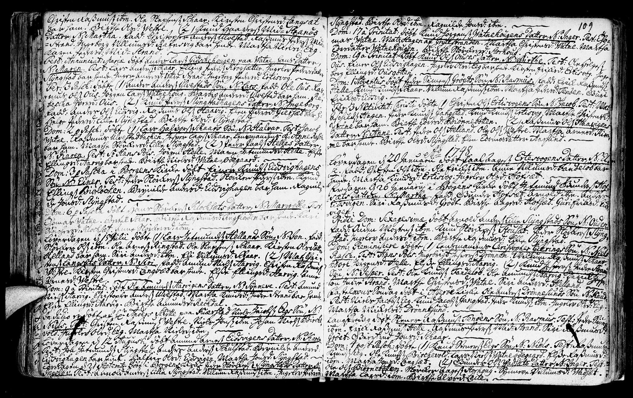 SAT, Ministerialprotokoller, klokkerbøker og fødselsregistre - Møre og Romsdal, 525/L0371: Ministerialbok nr. 525A01, 1699-1777, s. 109