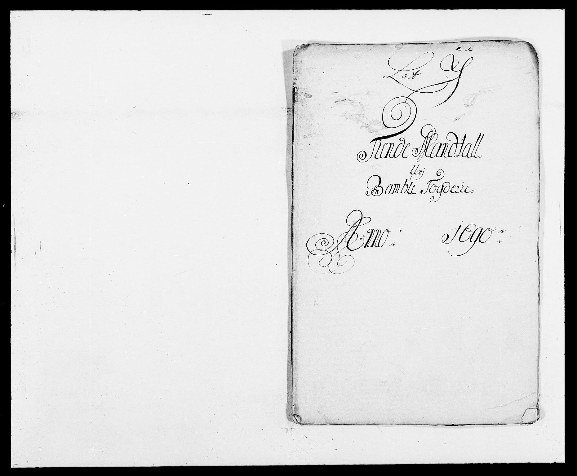 RA, Rentekammeret inntil 1814, Reviderte regnskaper, Fogderegnskap, R34/L2051: Fogderegnskap Bamble, 1688-1691, s. 24