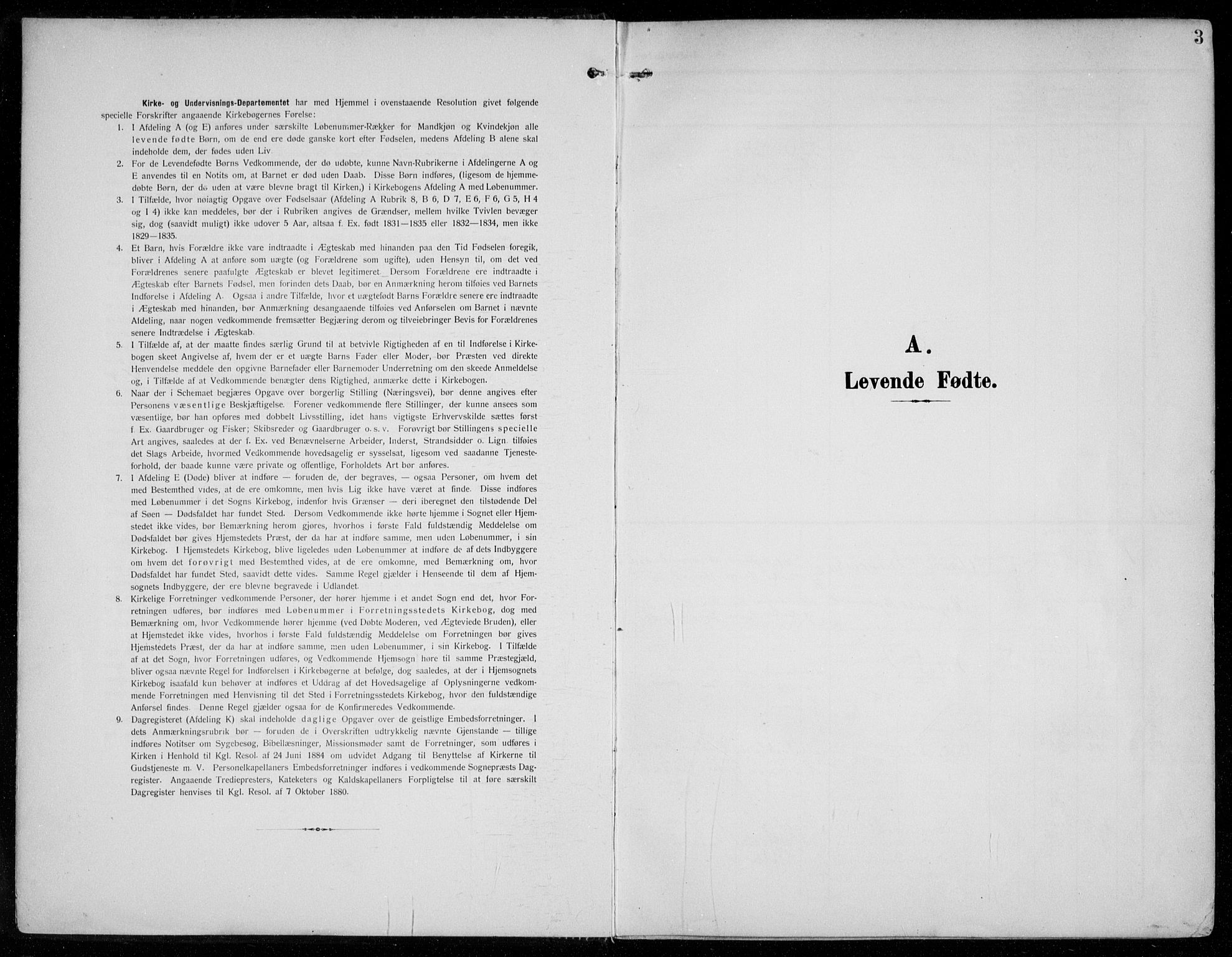 SAO, Vestby prestekontor Kirkebøker, F/Fc/L0002: Ministerialbok nr. III 2, 1906-1940, s. 3
