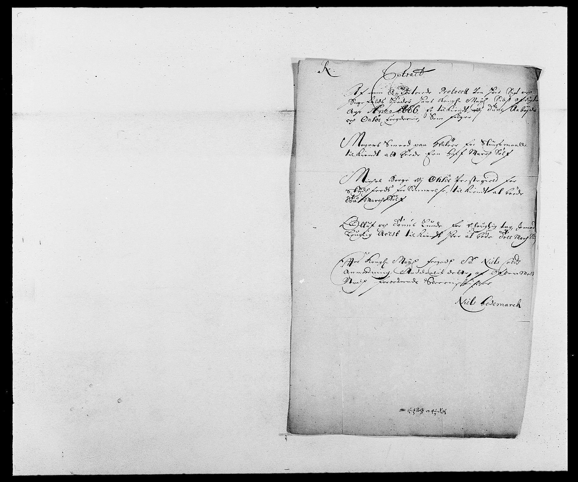 RA, Rentekammeret inntil 1814, Reviderte regnskaper, Fogderegnskap, R03/L0116: Fogderegnskap Onsøy, Tune, Veme og Åbygge fogderi, 1684-1689, s. 250