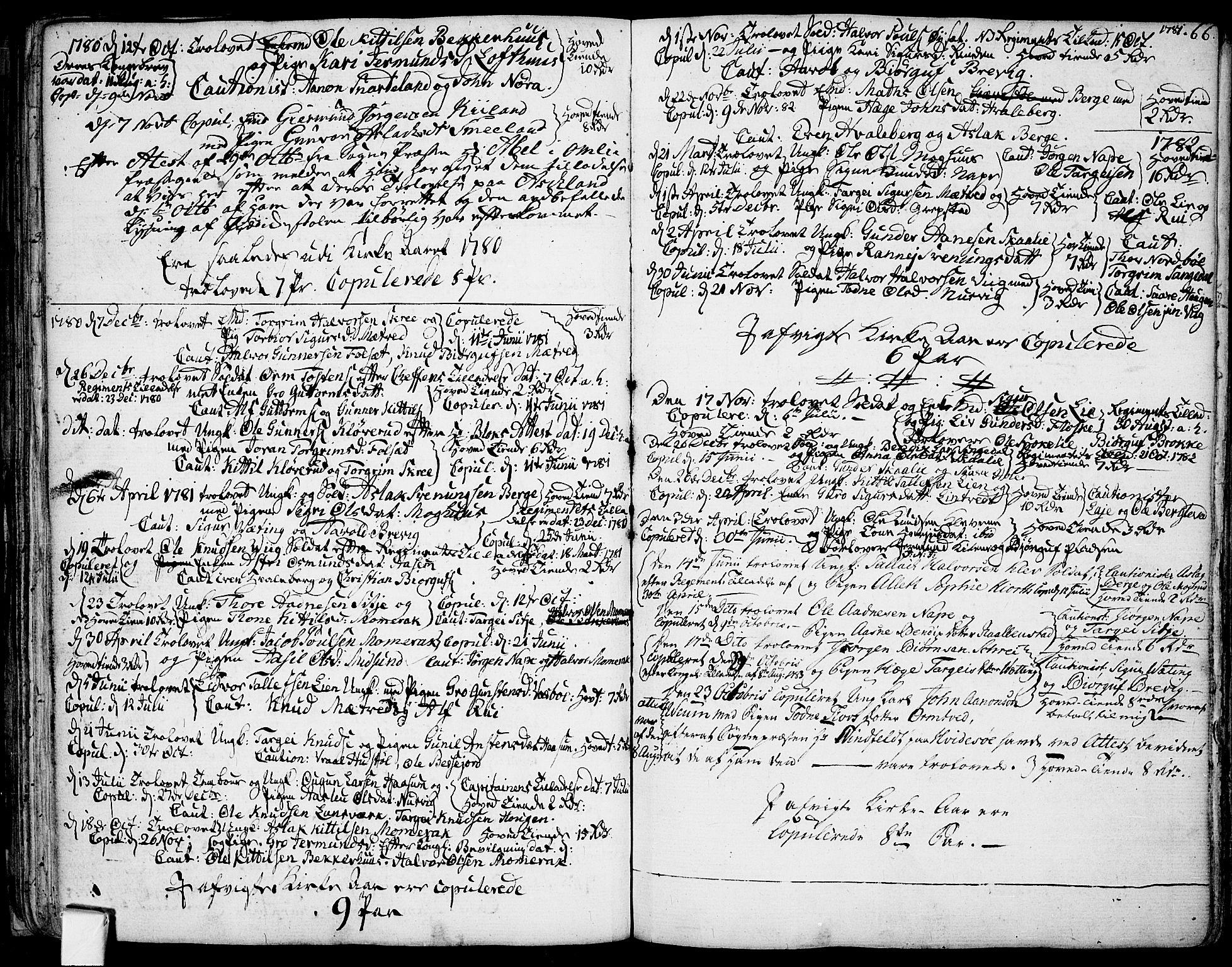SAKO, Fyresdal kirkebøker, F/Fa/L0002: Ministerialbok nr. I 2, 1769-1814, s. 66