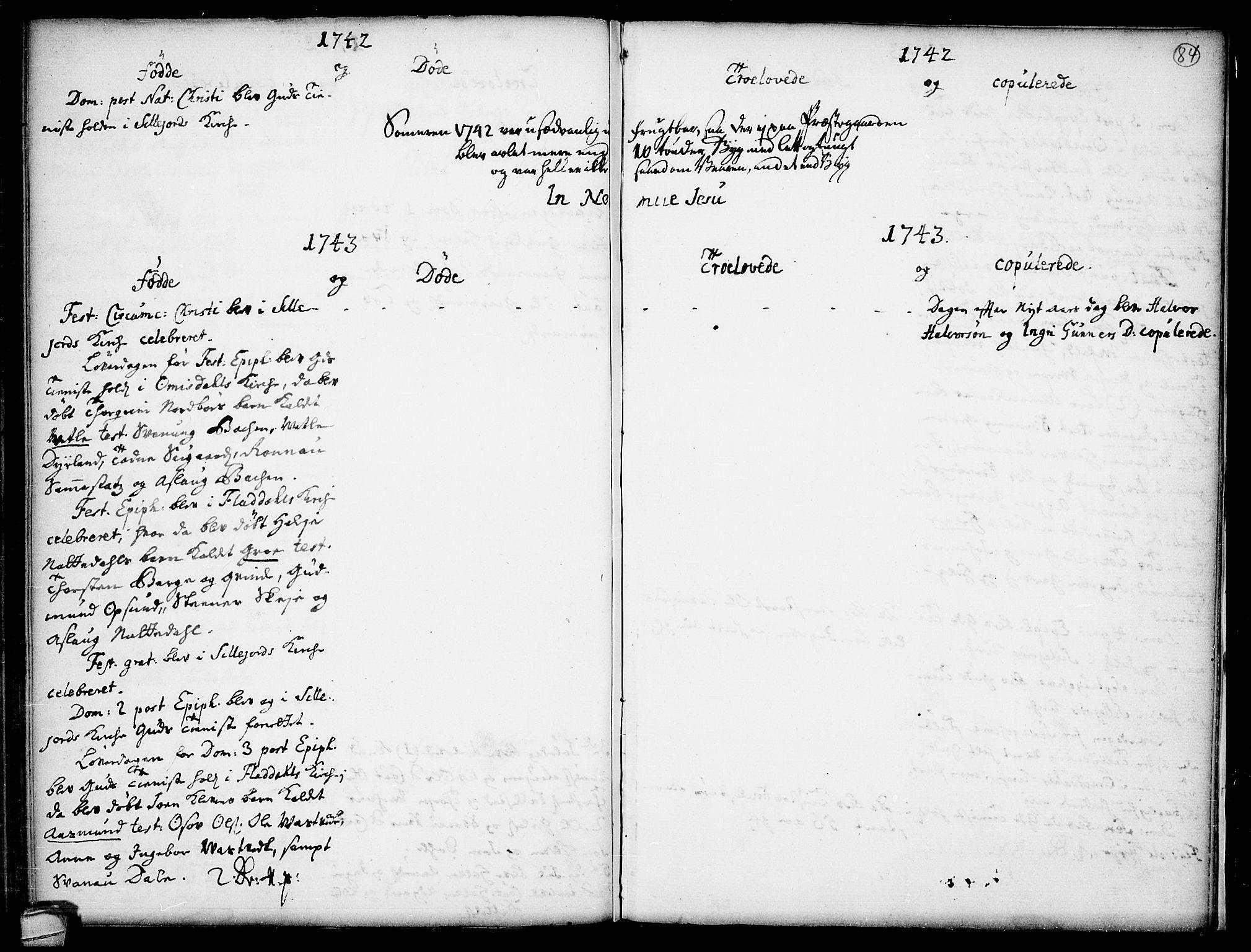 SAKO, Seljord kirkebøker, F/Fa/L0005: Ministerialbok nr. I 5, 1737-1743, s. 84