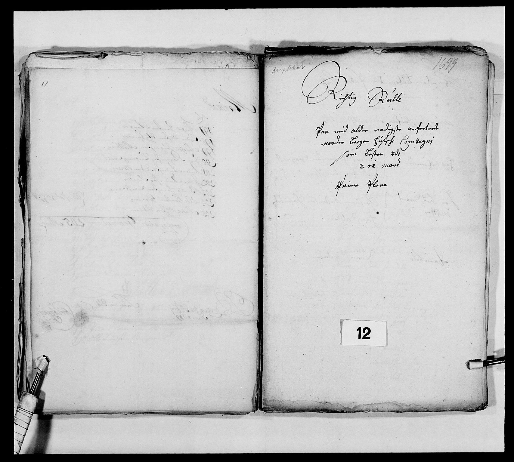 RA, Kommanderende general (KG I) med Det norske krigsdirektorium, E/Ea/L0473: Marineregimentet, 1664-1700, s. 190