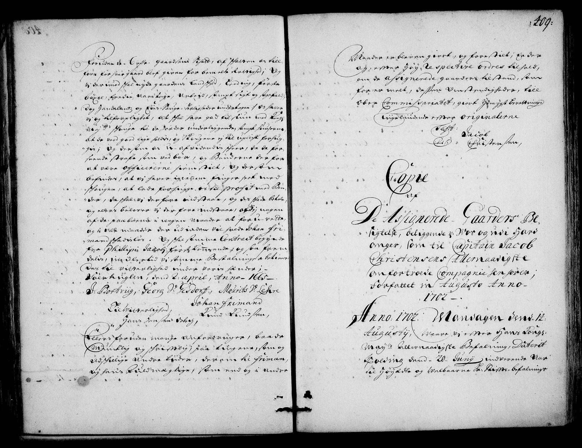 RA, Rentekammeret inntil 1814, Realistisk ordnet avdeling, On/L0002: [Jj 3]: Besiktigelsesforretninger over Halsnøy klosters gods, 1659-1703, s. 408b-409a