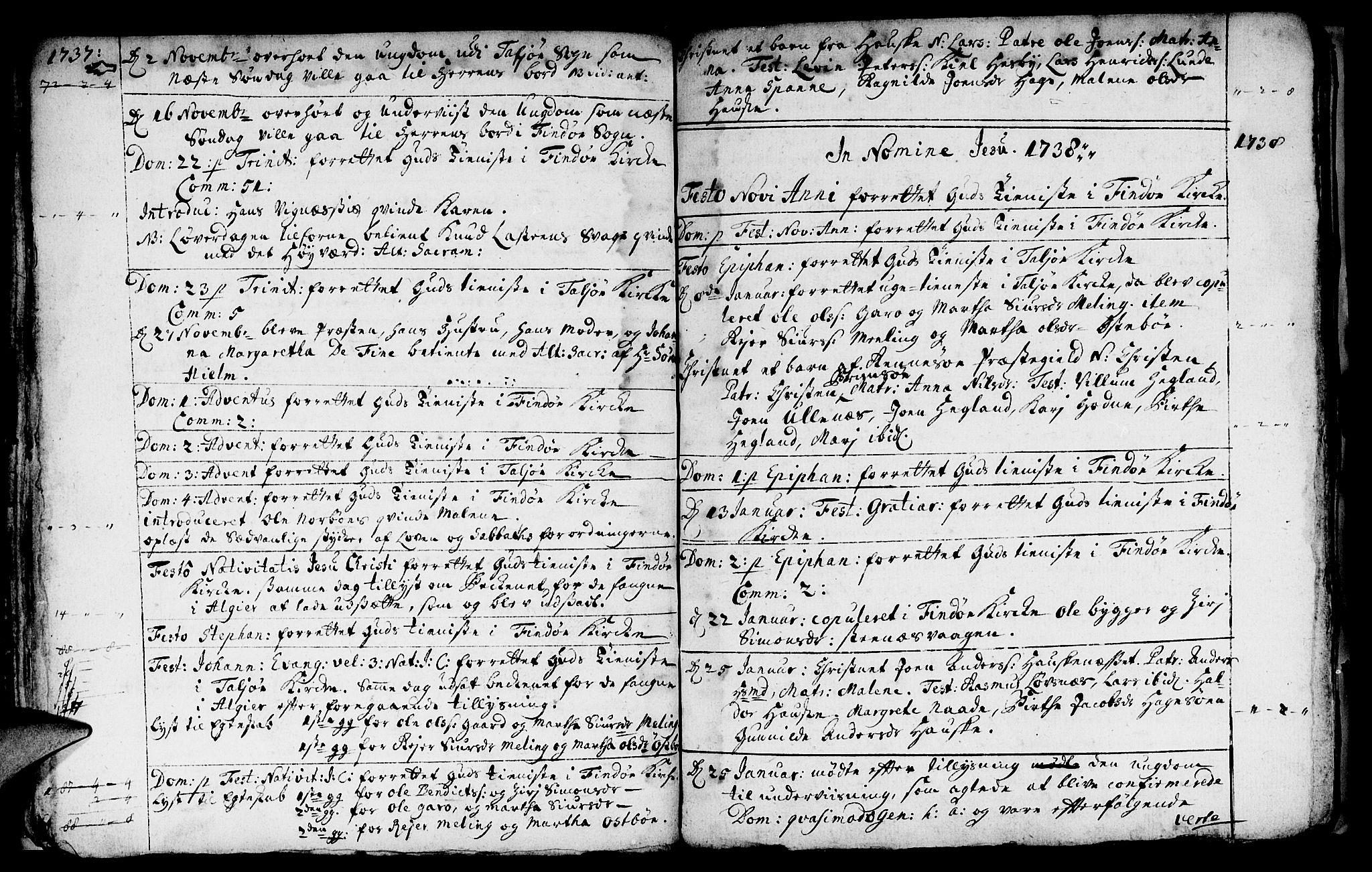 SAST, Finnøy sokneprestkontor, H/Ha/Haa/L0003: Ministerialbok nr. A 3, 1735-1746
