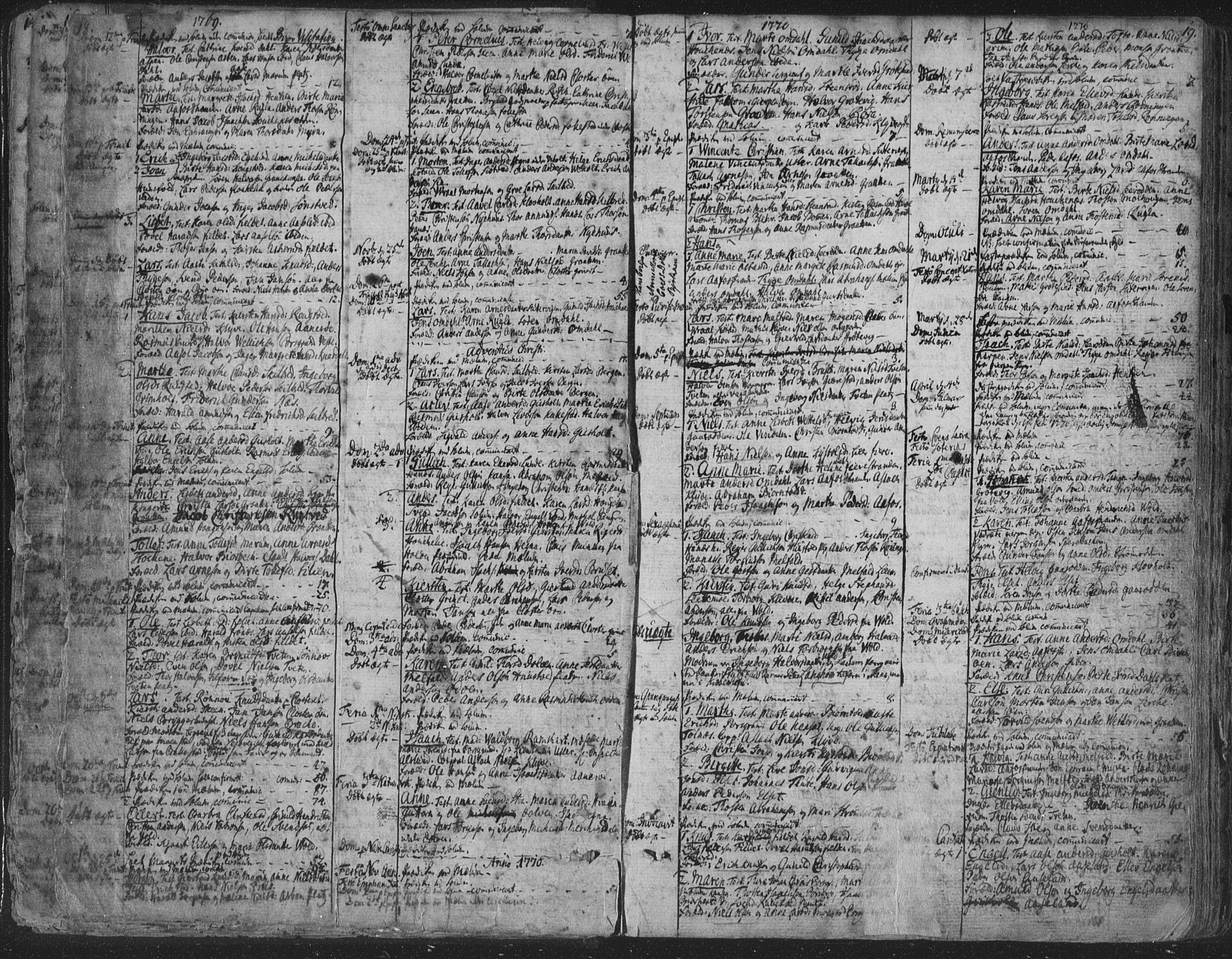 SAKO, Solum kirkebøker, F/Fa/L0003: Ministerialbok nr. I 3, 1761-1814, s. 18-19