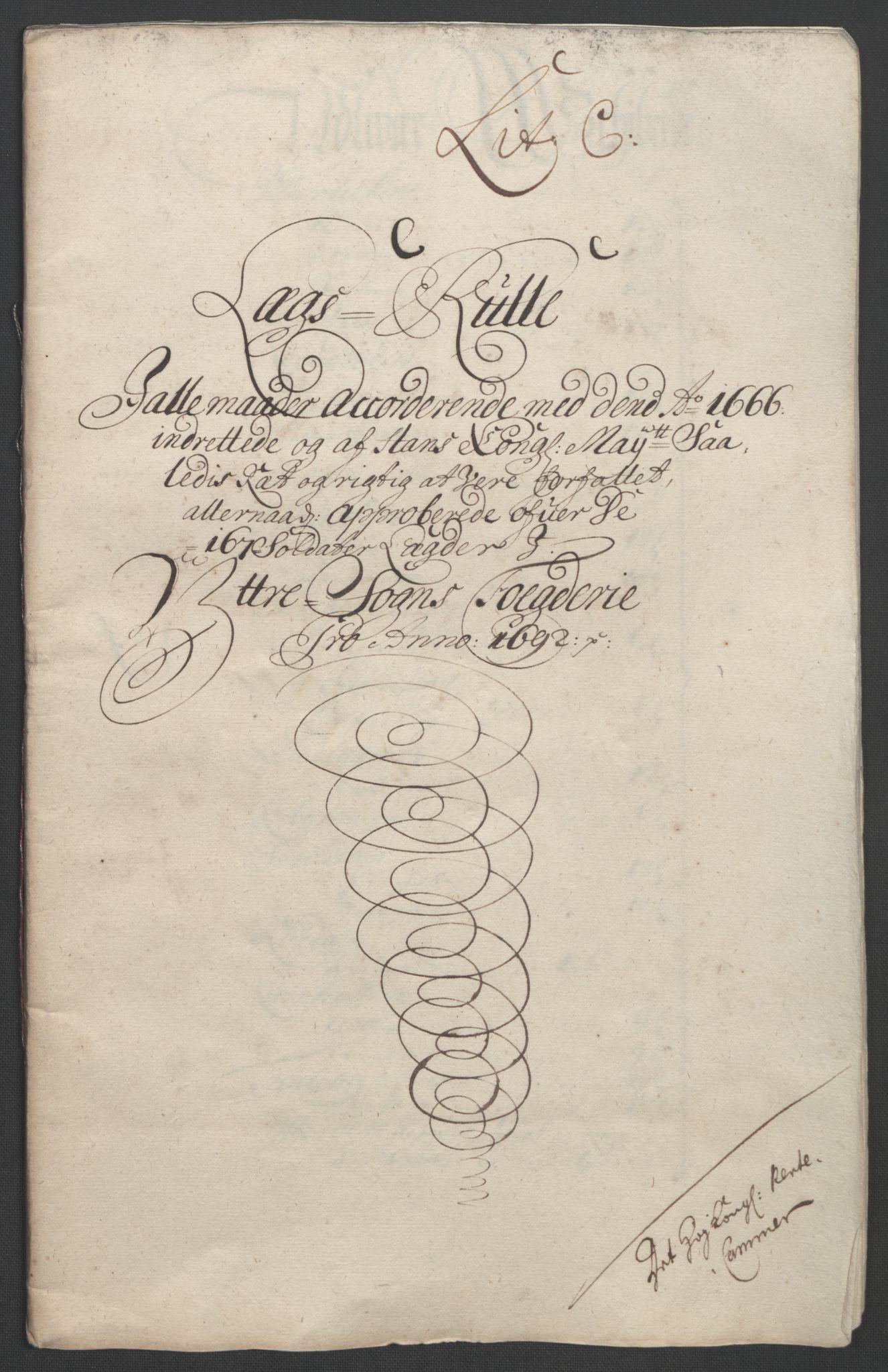 RA, Rentekammeret inntil 1814, Reviderte regnskaper, Fogderegnskap, R52/L3306: Fogderegnskap Sogn, 1691-1692, s. 316