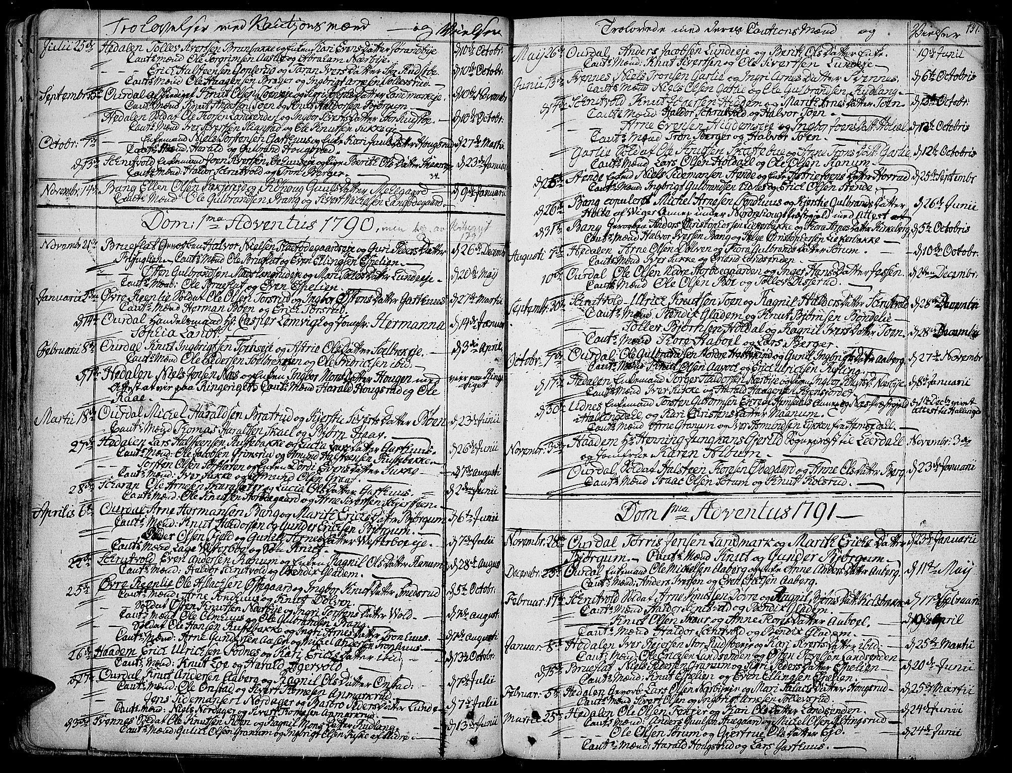 SAH, Aurdal prestekontor, Ministerialbok nr. 6, 1781-1804, s. 137