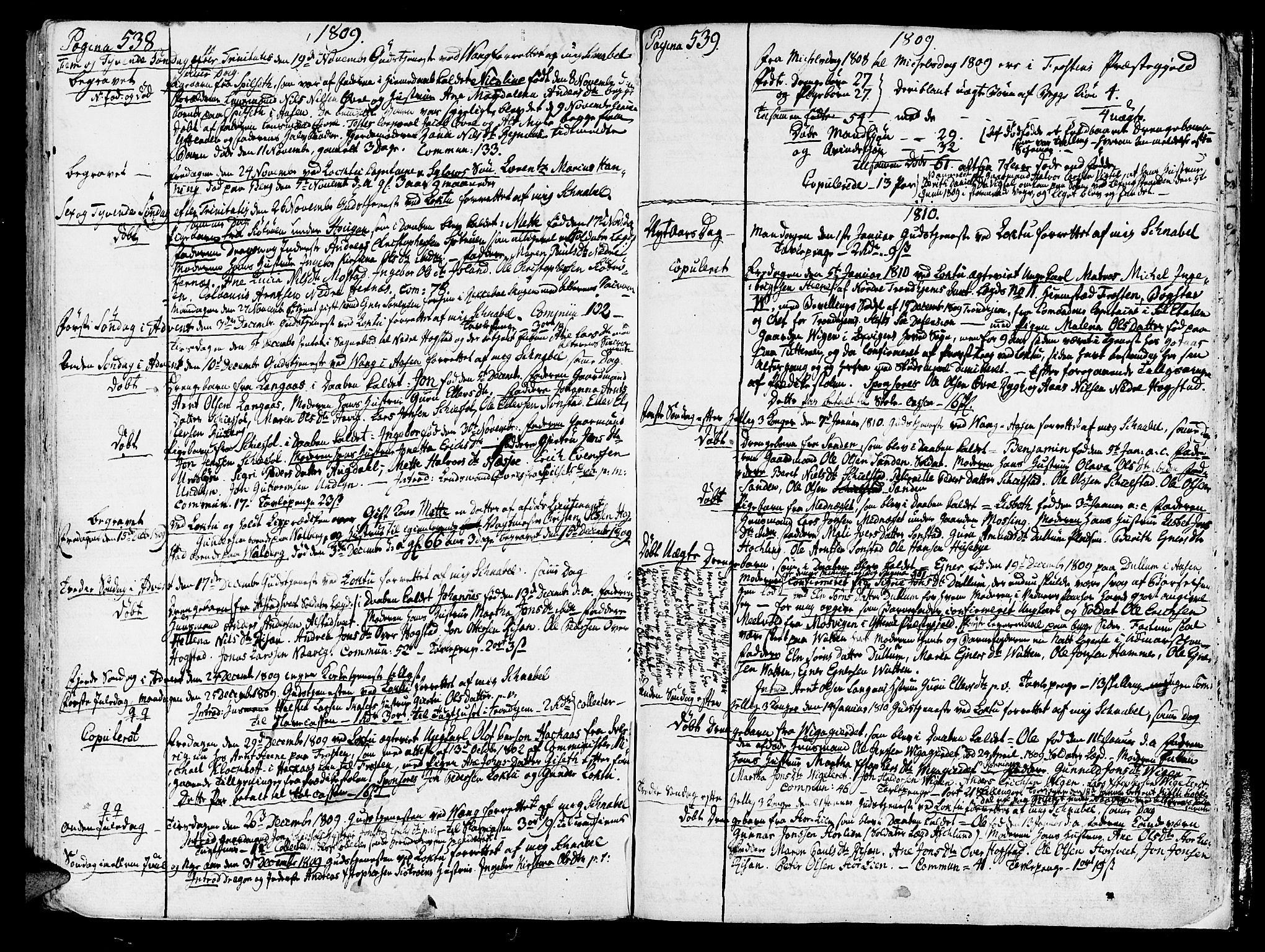 SAT, Ministerialprotokoller, klokkerbøker og fødselsregistre - Nord-Trøndelag, 713/L0110: Ministerialbok nr. 713A02, 1778-1811, s. 538-539