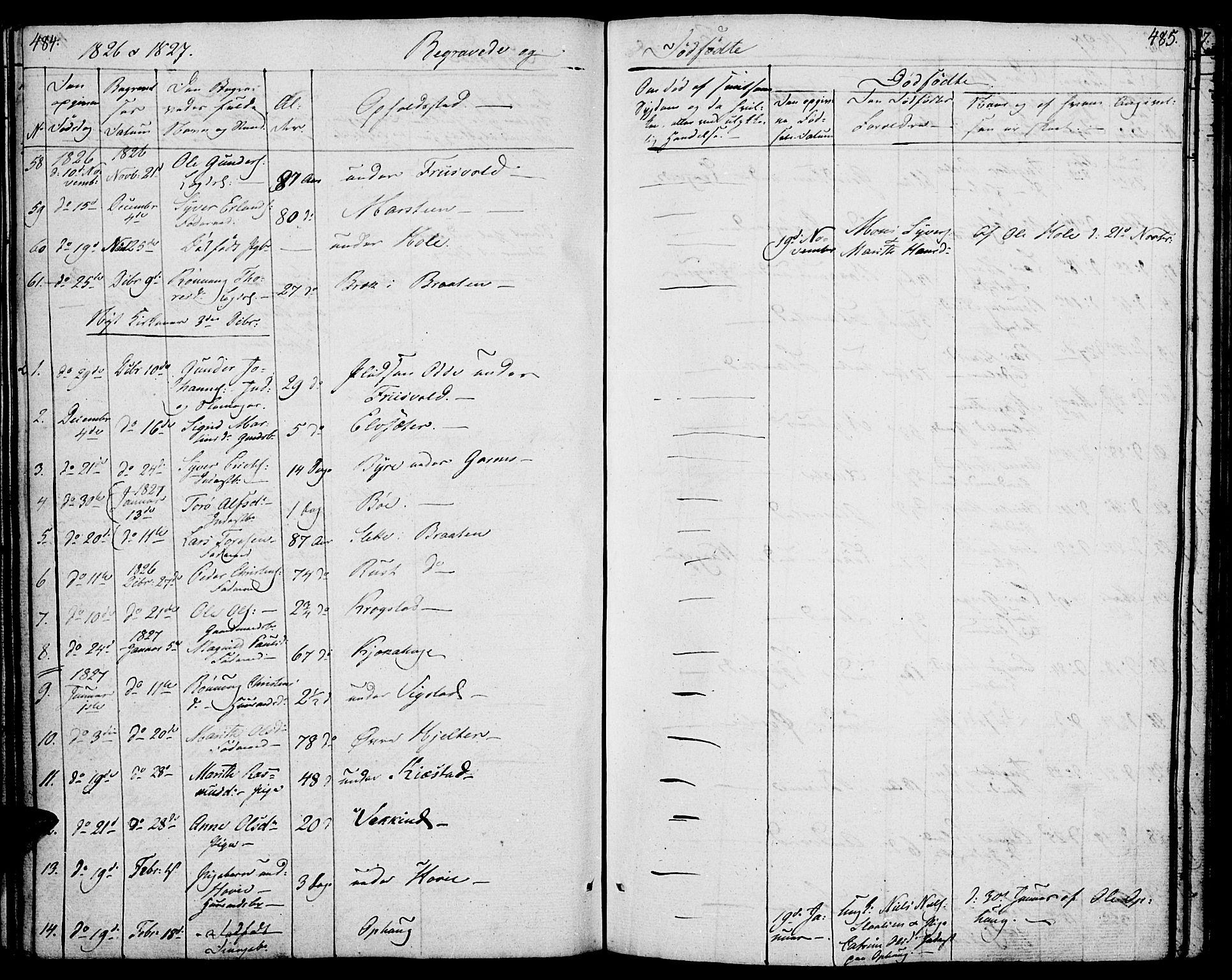 SAH, Lom prestekontor, K/L0005: Ministerialbok nr. 5, 1825-1837, s. 484-485
