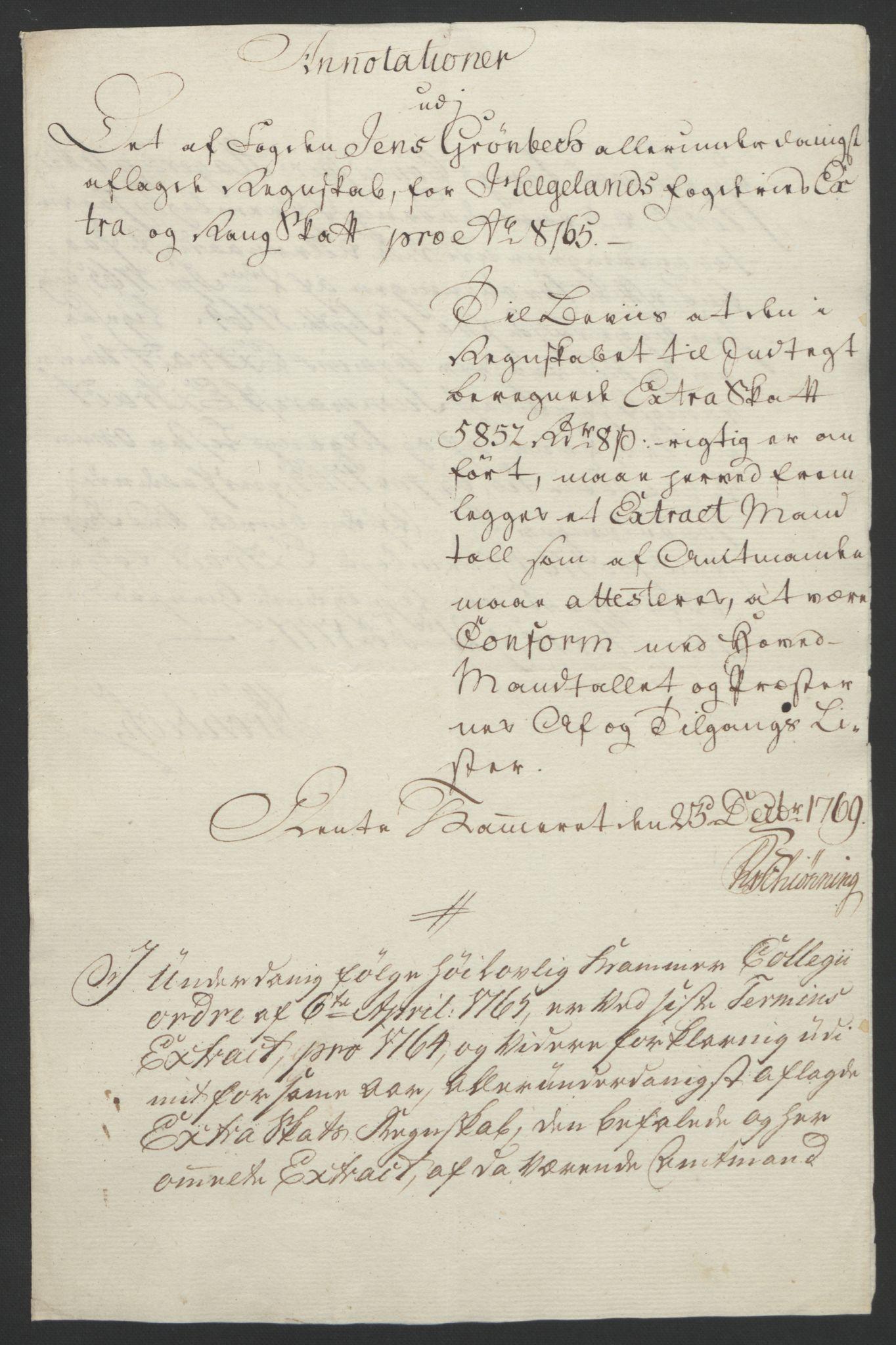 RA, Rentekammeret inntil 1814, Reviderte regnskaper, Fogderegnskap, R65/L4573: Ekstraskatten Helgeland, 1762-1772, s. 308